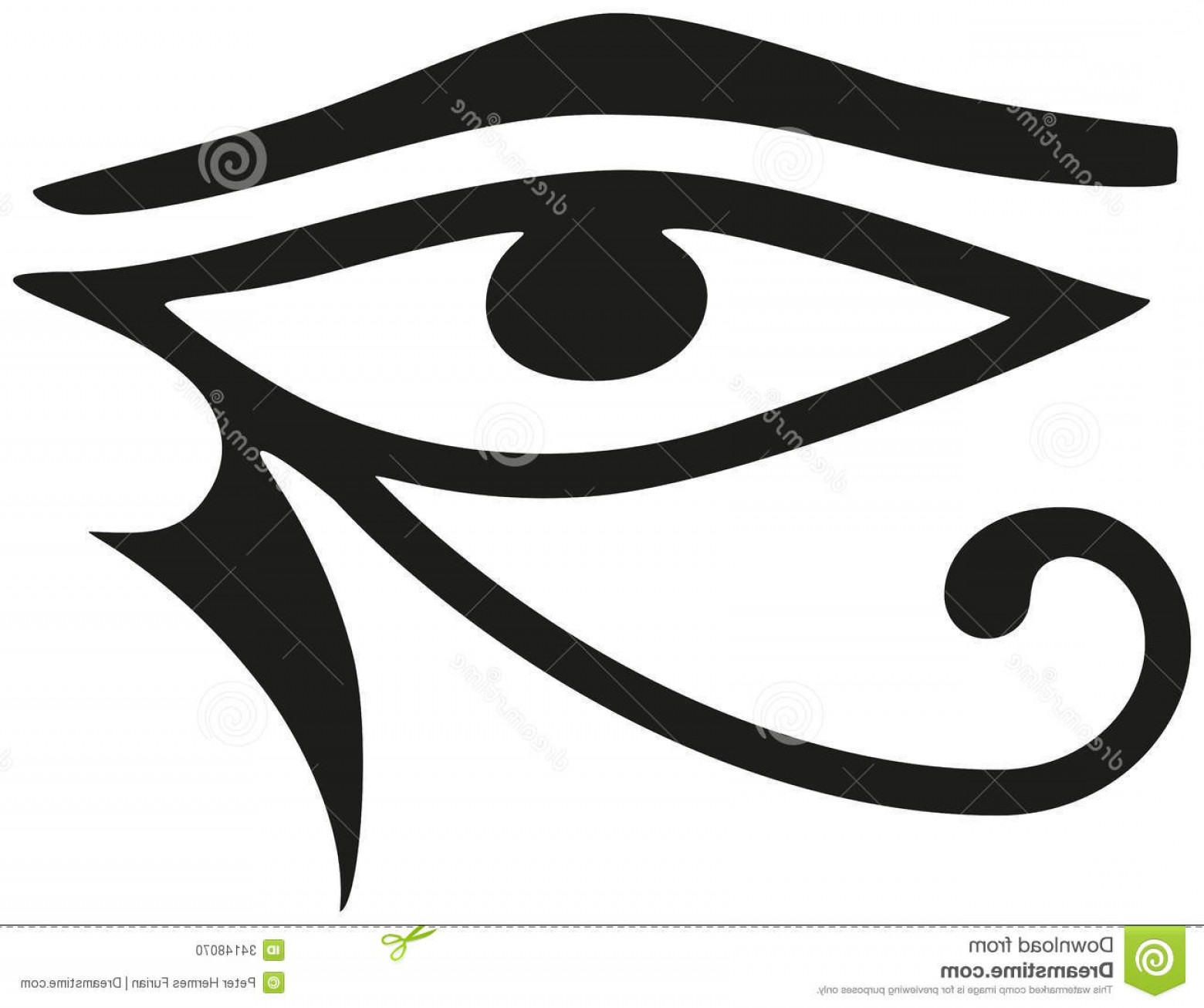 Stock Photo Eye Horus Ancient Egyptian Symbol Protection Royal Power