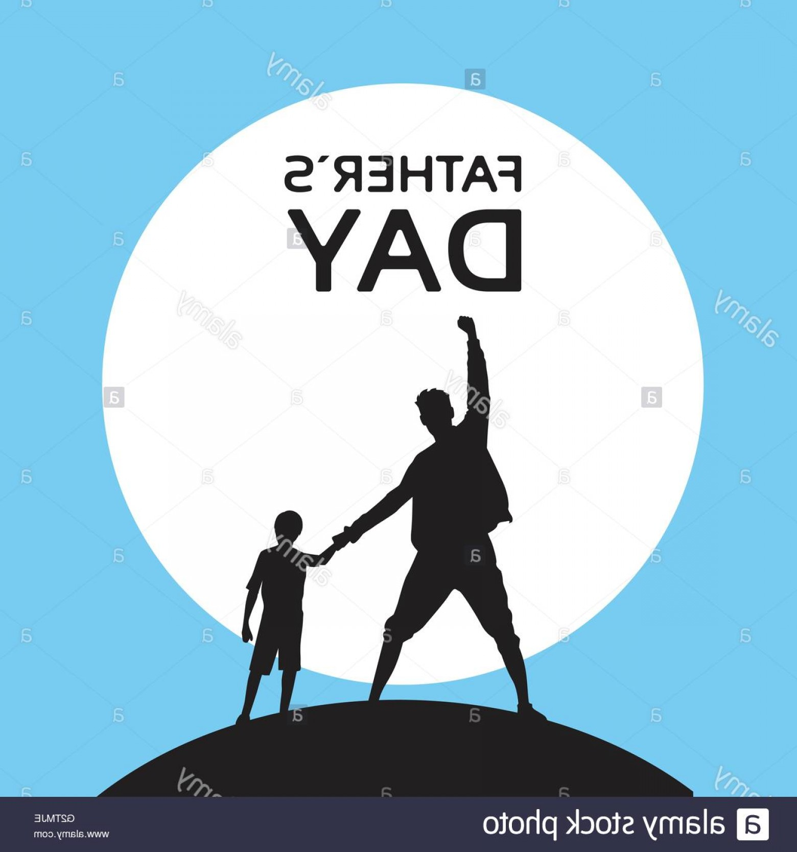 Holding Hands Up Silhouette Vector: Stock Photo Father Day Holiday Silhouette Son Dad Hold Hands Up