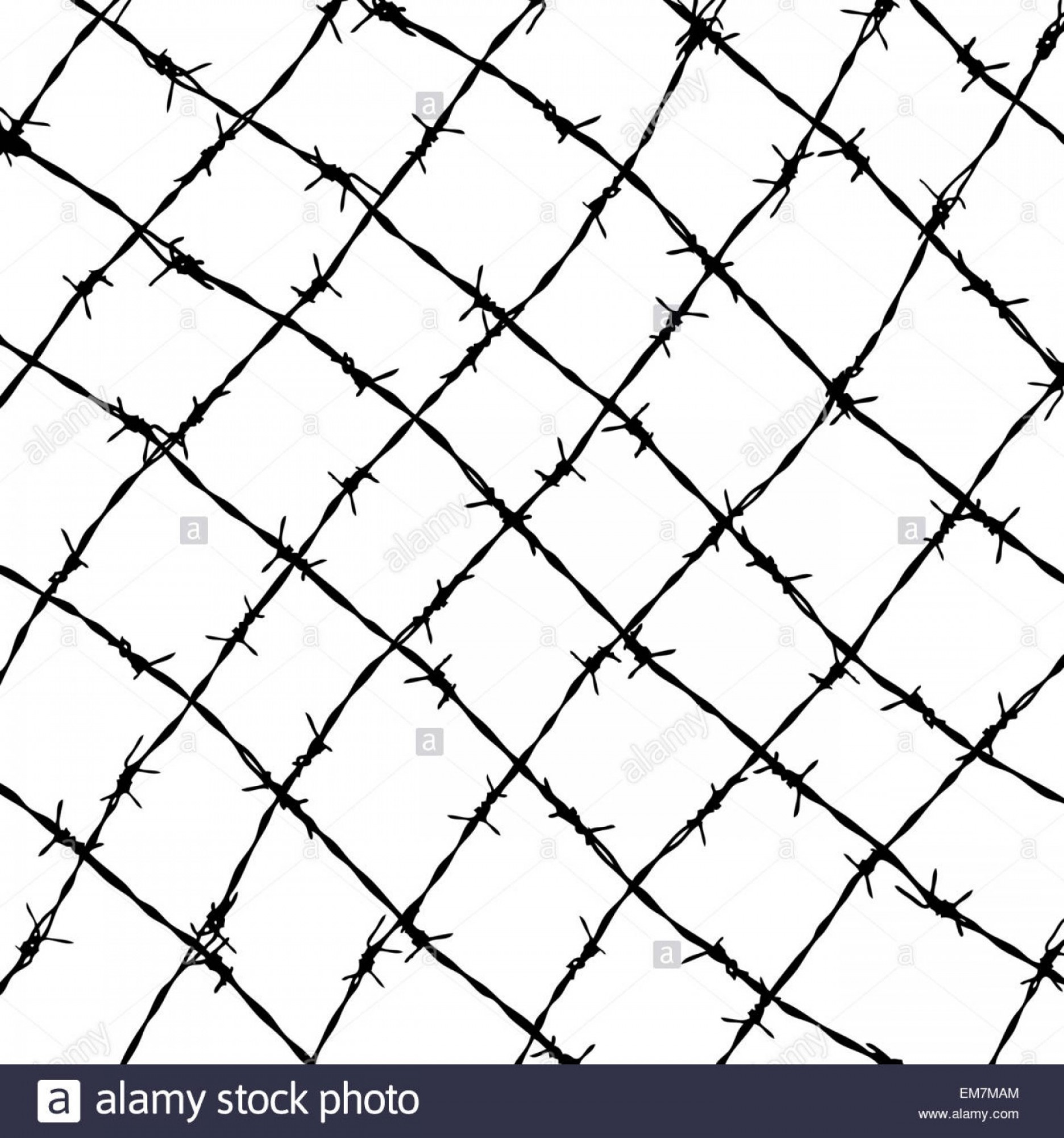 Fence Post Barbed Wire Vector Clip Art: Stock Photo Fence From Barbed Wires