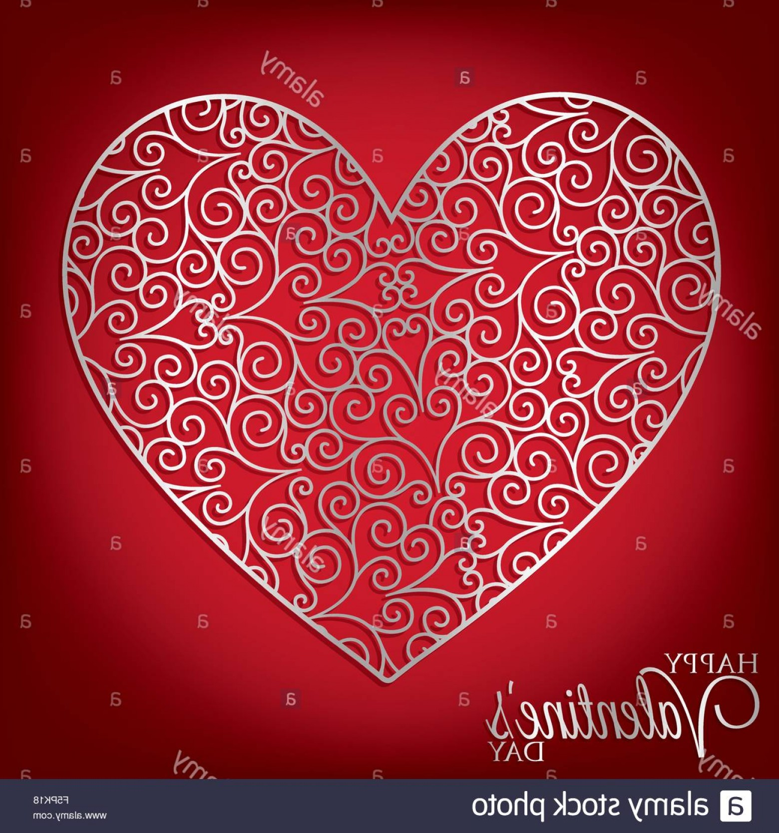 Vector Filigree Heart: Stock Photo Filigree Heart Card In Vector Format