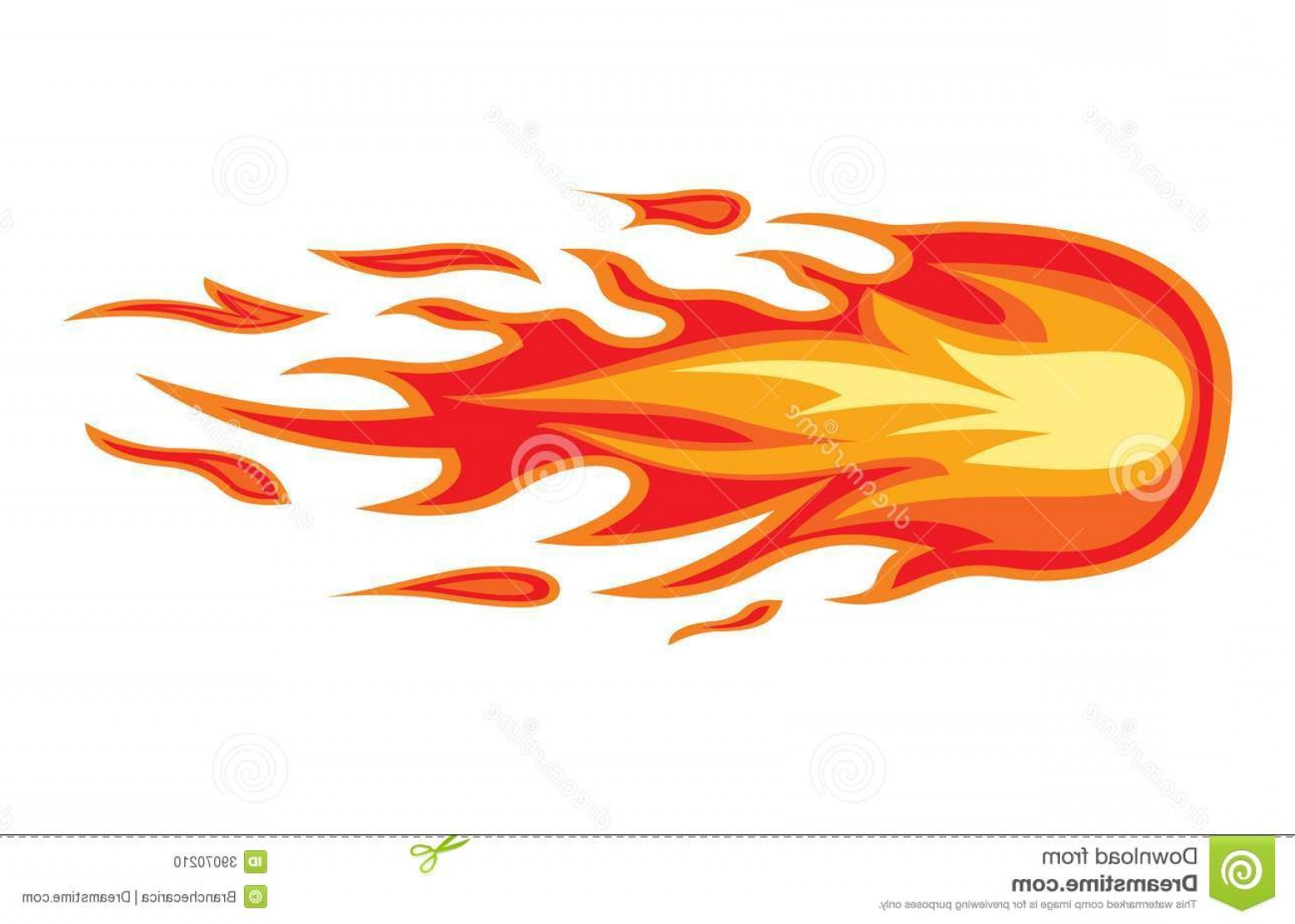 Fire Clip Art Vector: Stock Photo Fire Flame Vector Illustration Image
