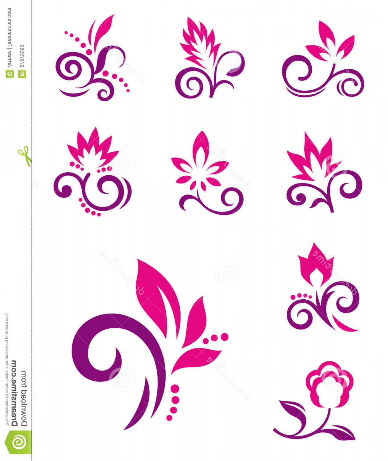 Floral Vector Icon: Stock Photo Floral Design Elements Vector Flower Icons Image