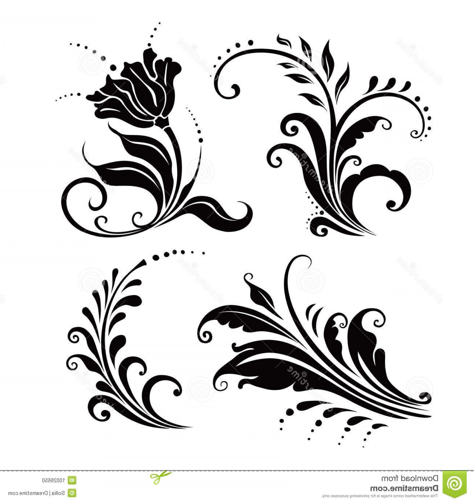 Flower Elements Vector: Stock Photo Floral Elements Vector Image