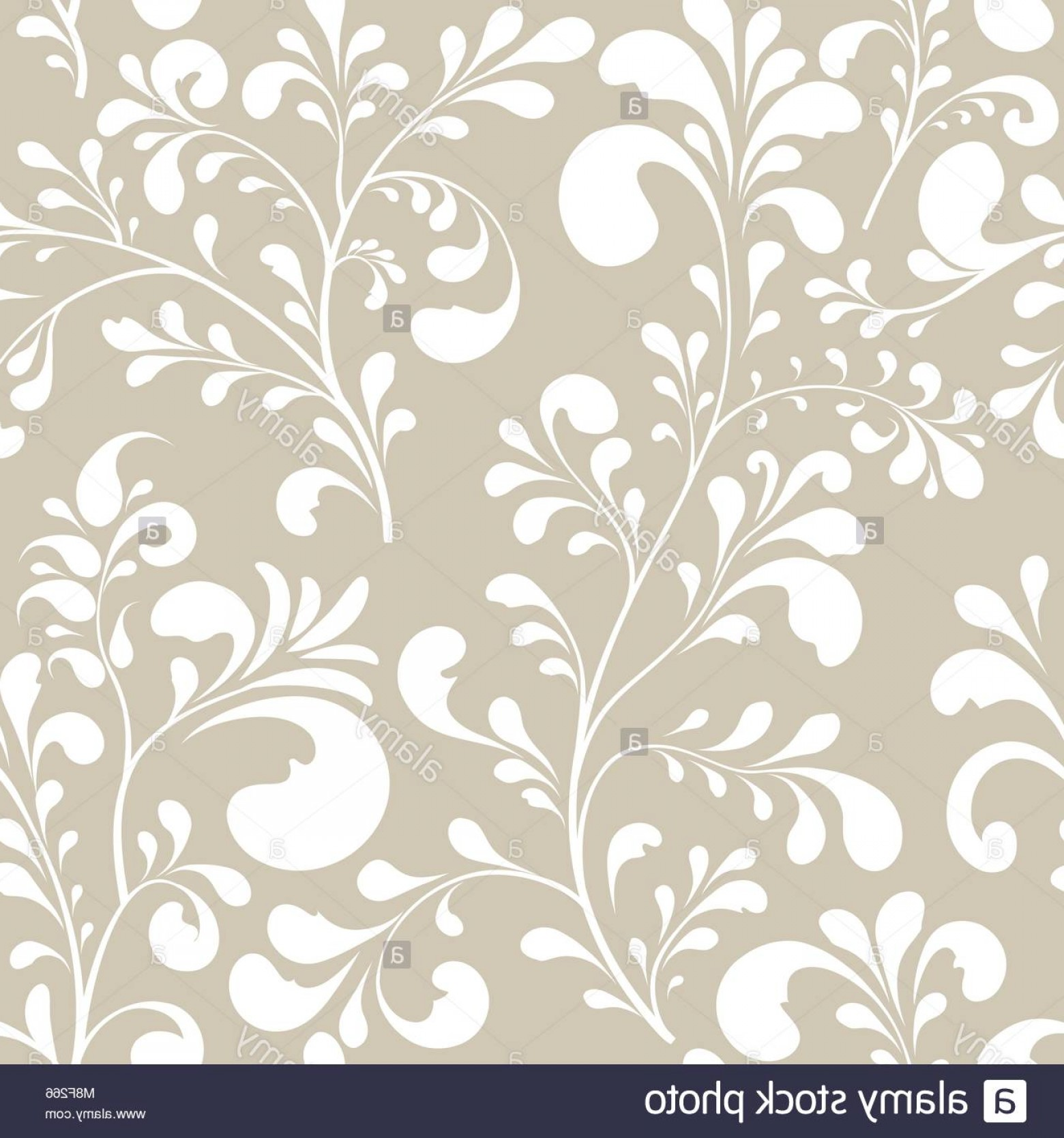 Vector Flourish Backgrounds: Stock Photo Floral Seamless Pattern Abstract Ornamental Flowers Flourish Leaves