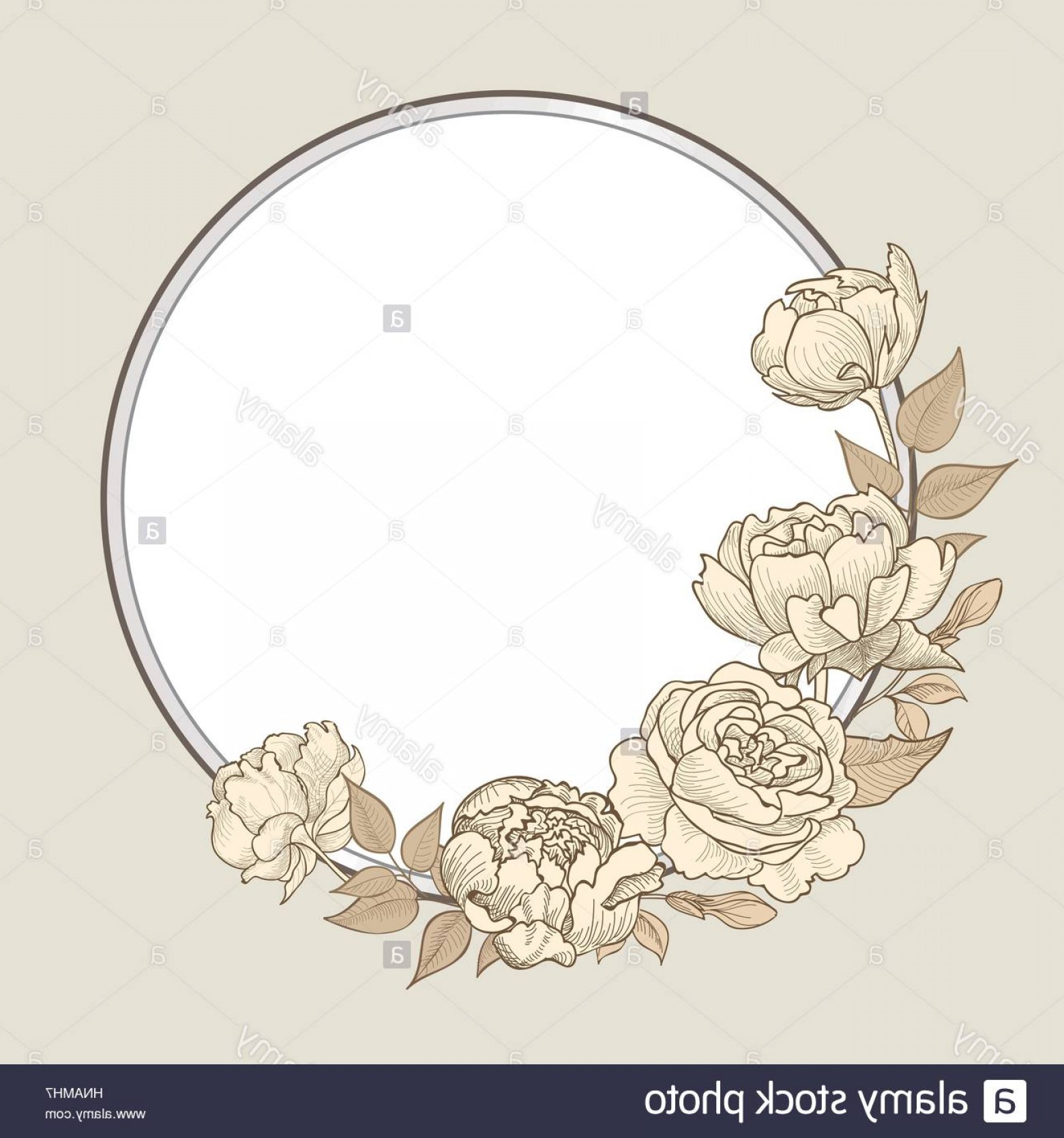 Vector Flourish Backgrounds: Stock Photo Flower Frame Floral Border Vintage Flourish Background In Victorian