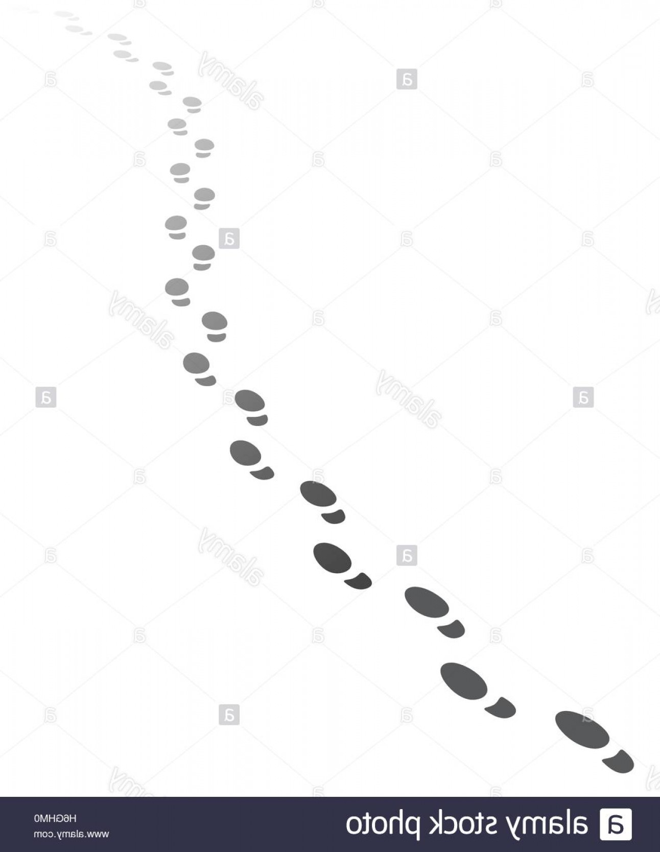 Walking Away Vector: Stock Photo Foot Steps Walking Awayvector Illustration Of Receding Human Footprints