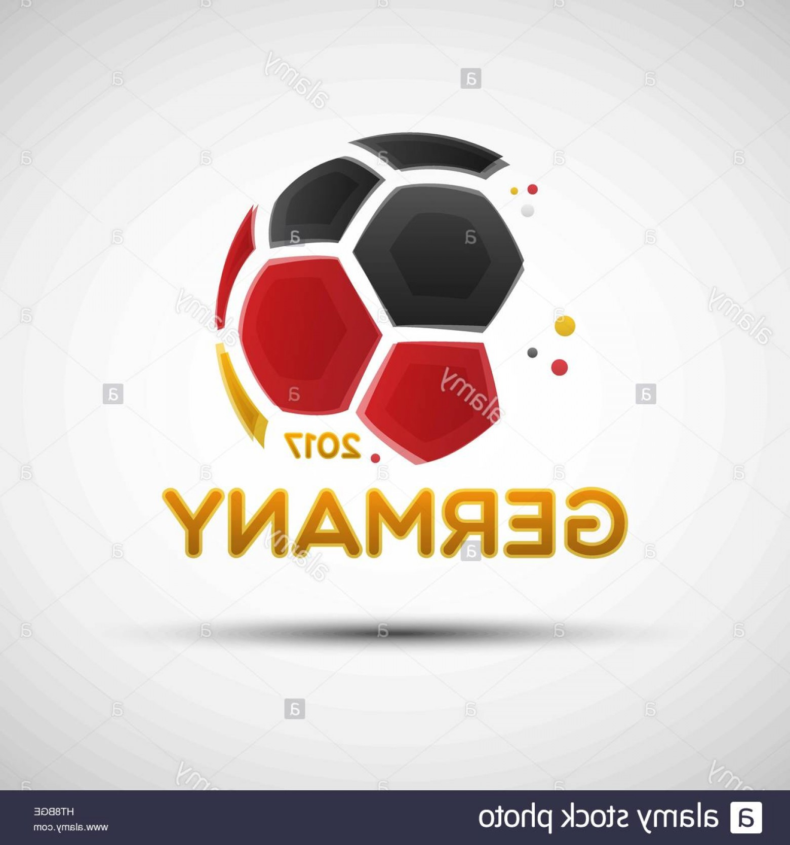 Abstract Football Vector Outline: Stock Photo Football Championship Banner Flag Of Germany Vector Illustration Of
