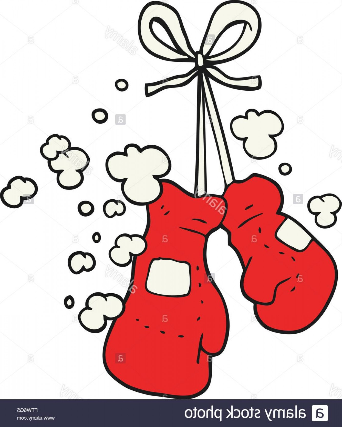 Pictures Of Boxing Gloves Vector Art: Stock Photo Freehand Drawn Cartoon Boxing Gloves