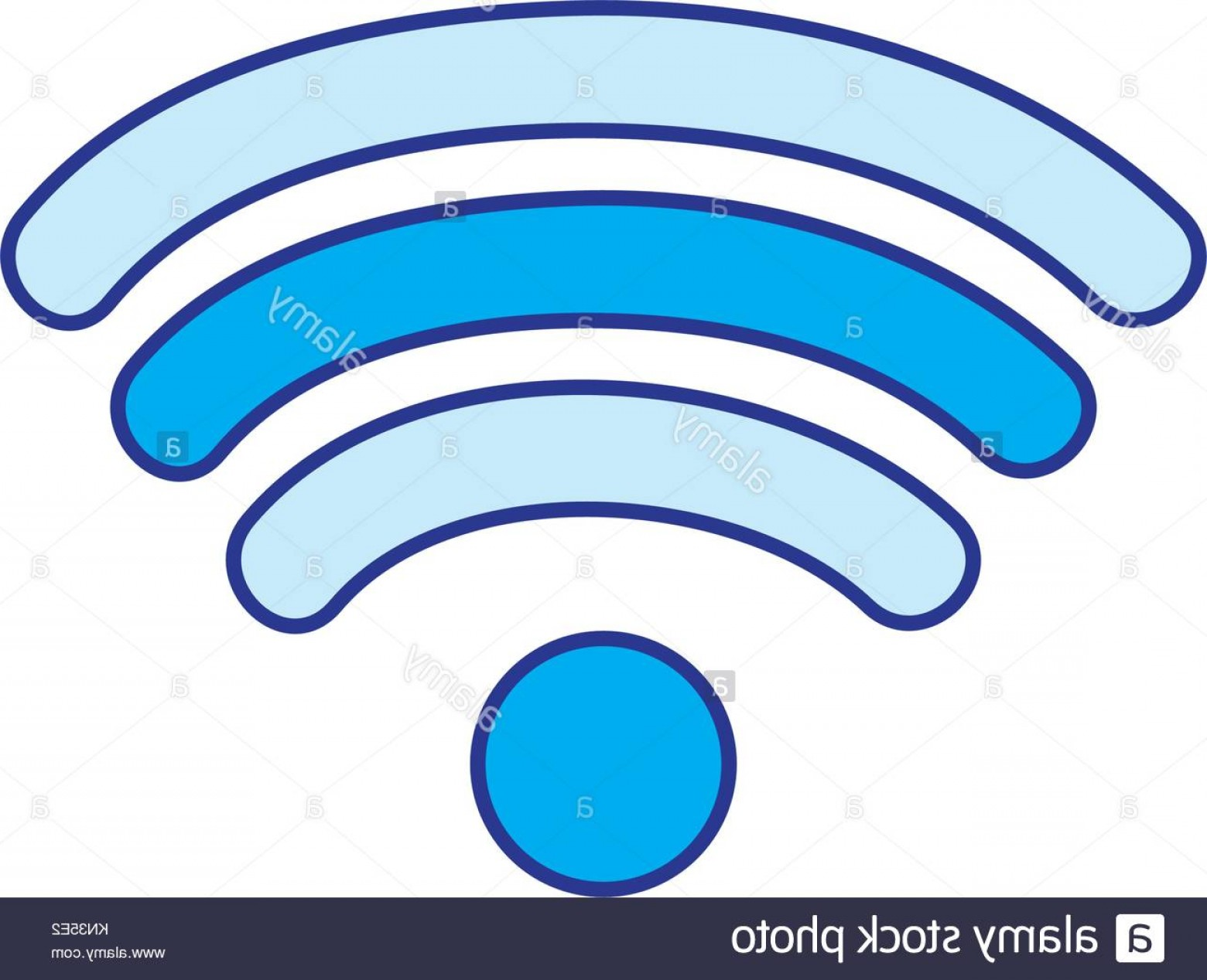 Wifi Symbol Clip Art Vector: Stock Photo Full Color Wifi Symbol Of Digital Internet Connection