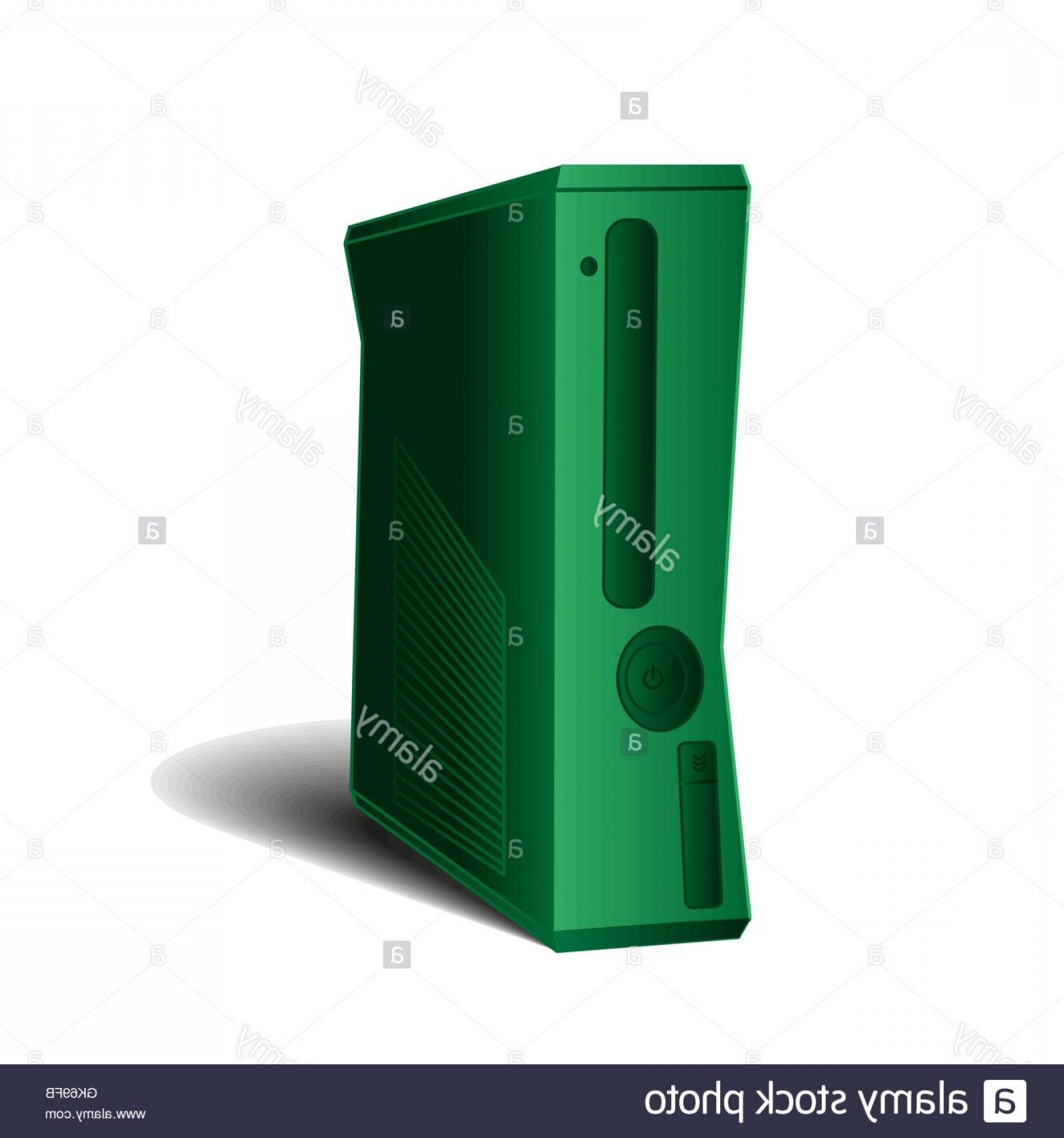 Xbox 360 Vector: Stock Photo Game Console For Gamers And Games Computer Case System Unit