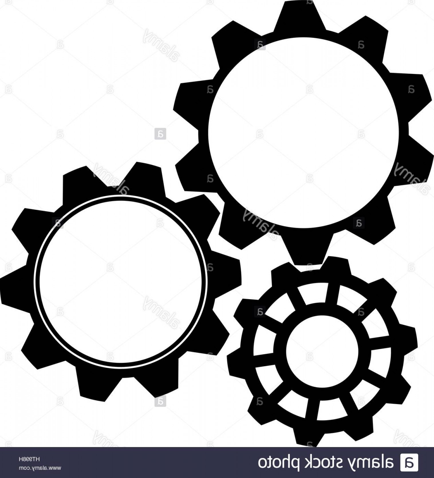 Vector Gear Graphics: Stock Photo Gear Icon In Black On A White Background Vector Graphics