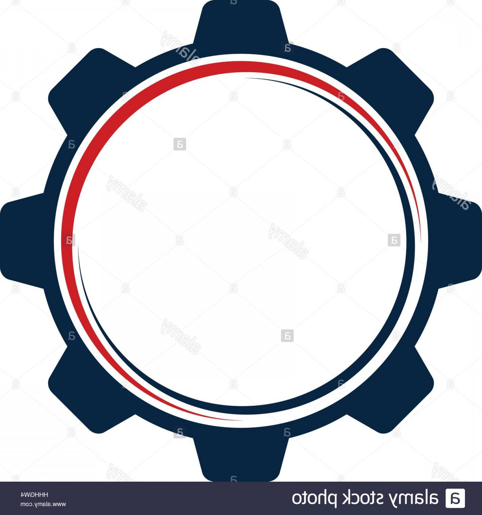 Vector Gear Graphics: Stock Photo Gear Template Logo