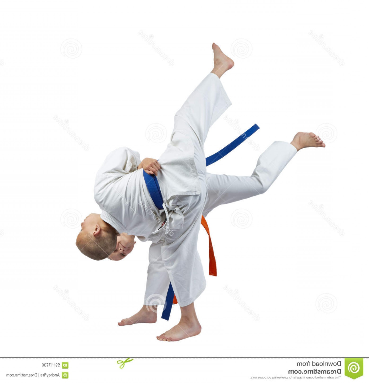 Judo Throw Vector Graphics: Stock Photo Girl Throwing Boy Throw Judo Image