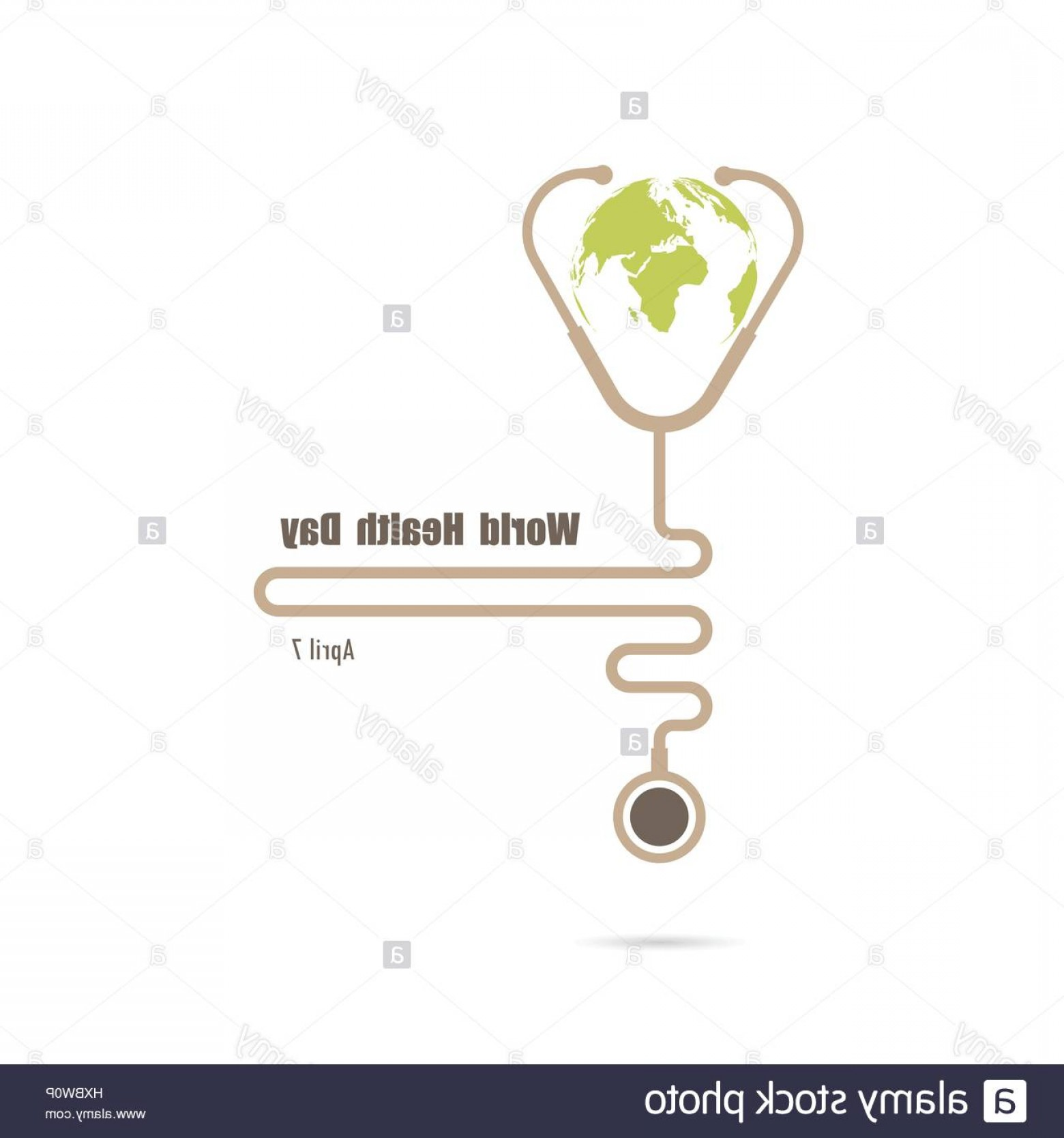Health Vector Logo: Stock Photo Globe Sign And Stethoscope Vector Logo Design Templateworld Health