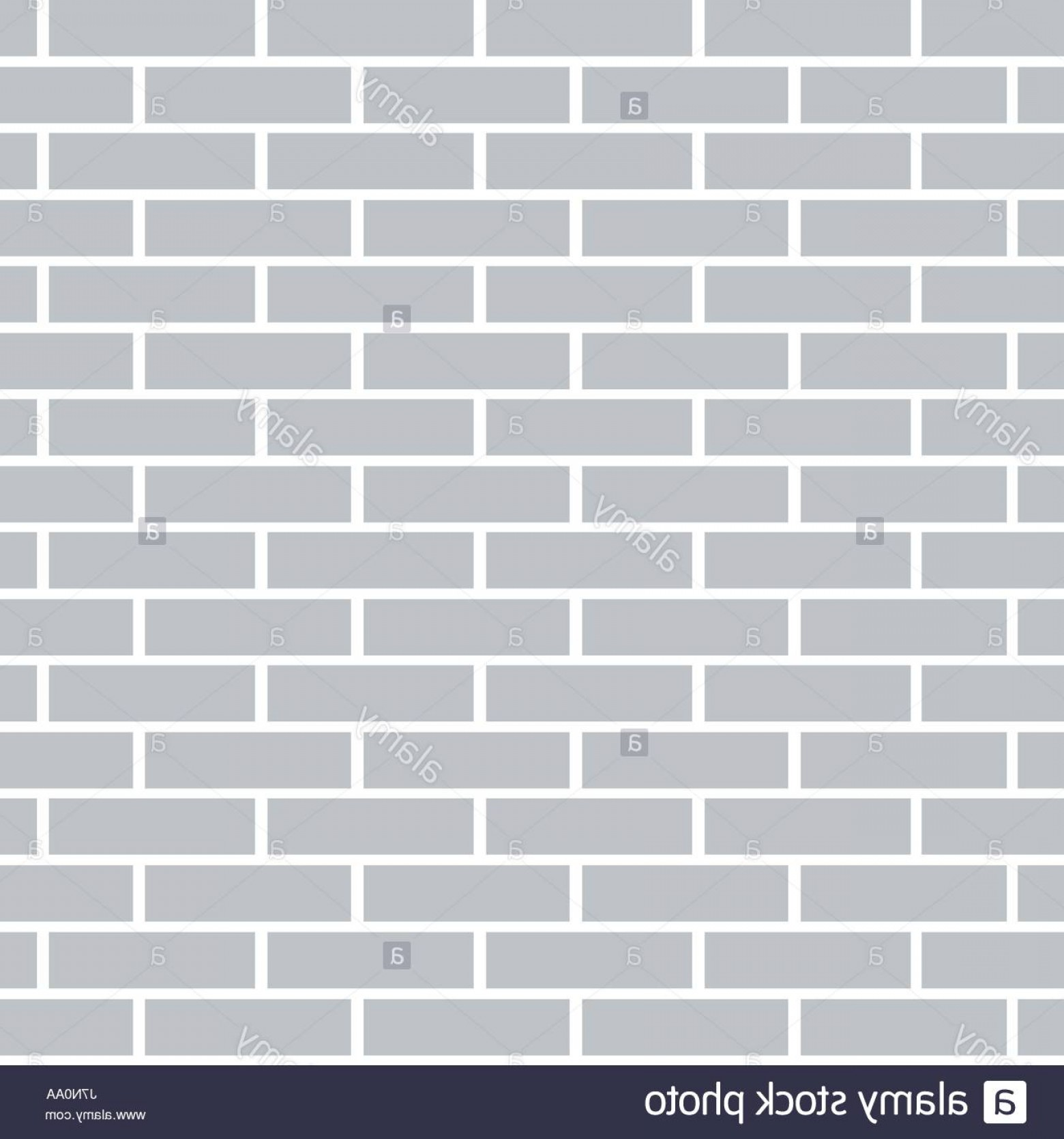 Wall Background Vector: Stock Photo Gray Brick Wall Background Flat And Solid Color Vector Illustration