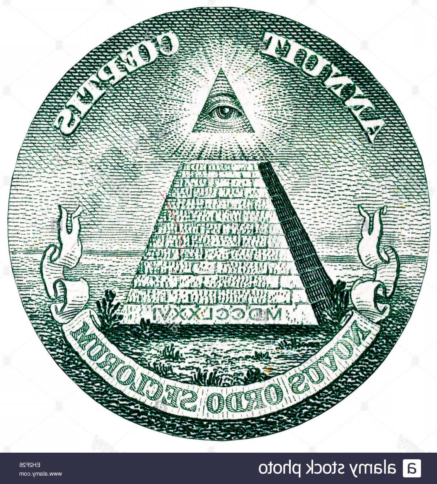 Pyramid With Eye Of Providence Vector: Stock Photo Great Seal Of The United States All Seeing Eye Of Providence And Unfinished