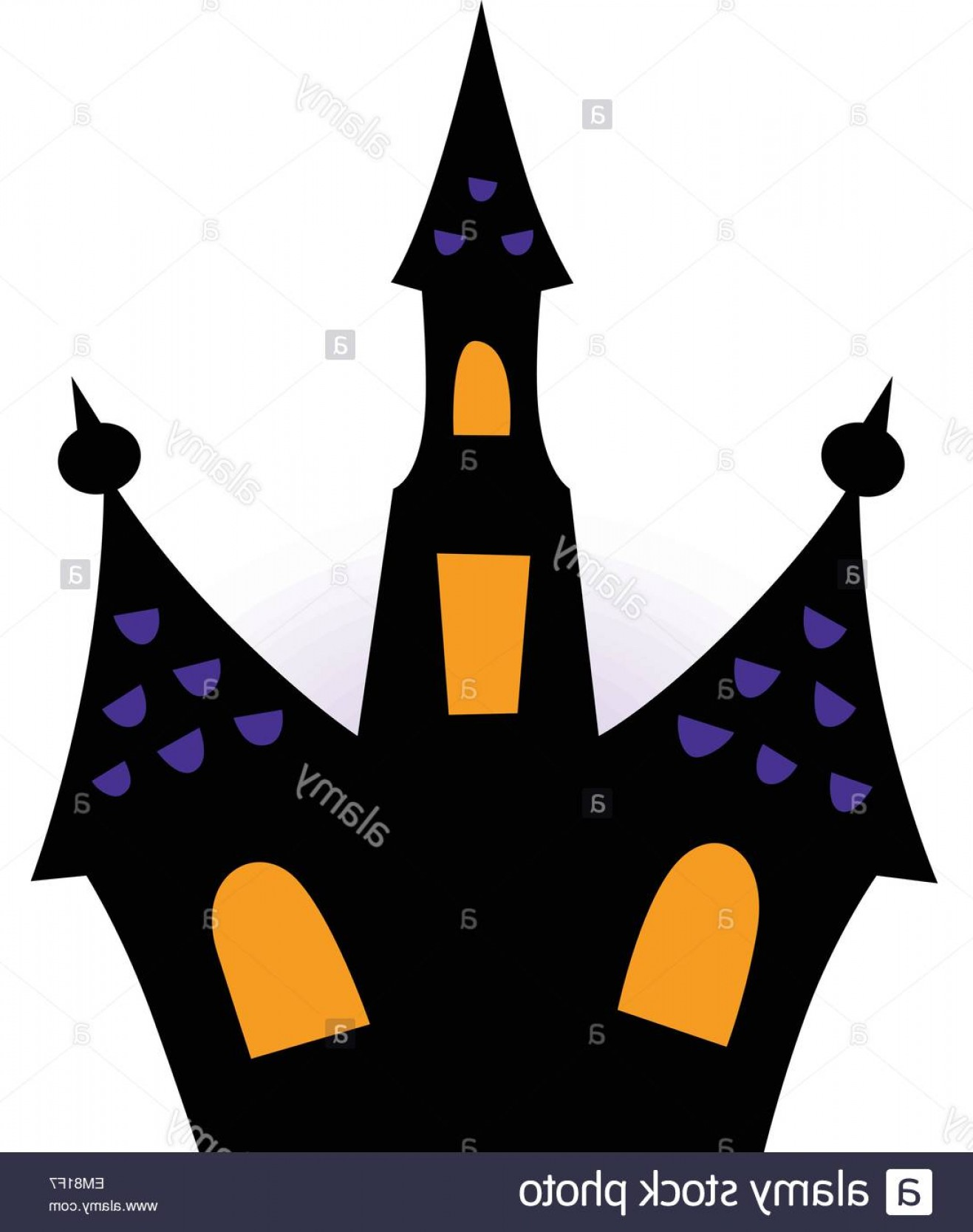Halloween Haunted House Silhouette Vector: Stock Photo Halloween Haunted House Silhouette Isolated On White