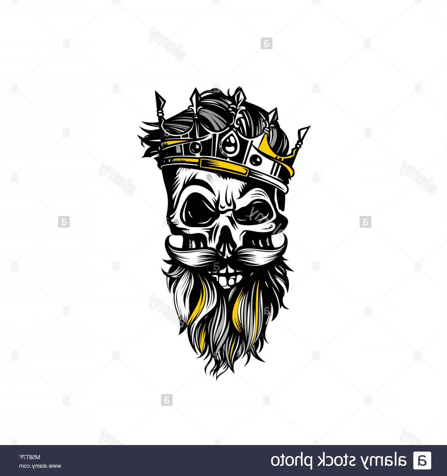 Skeleton Fist Vector: Stock Photo Hand Drawn Sketch Skull With Crown Vector Illustration