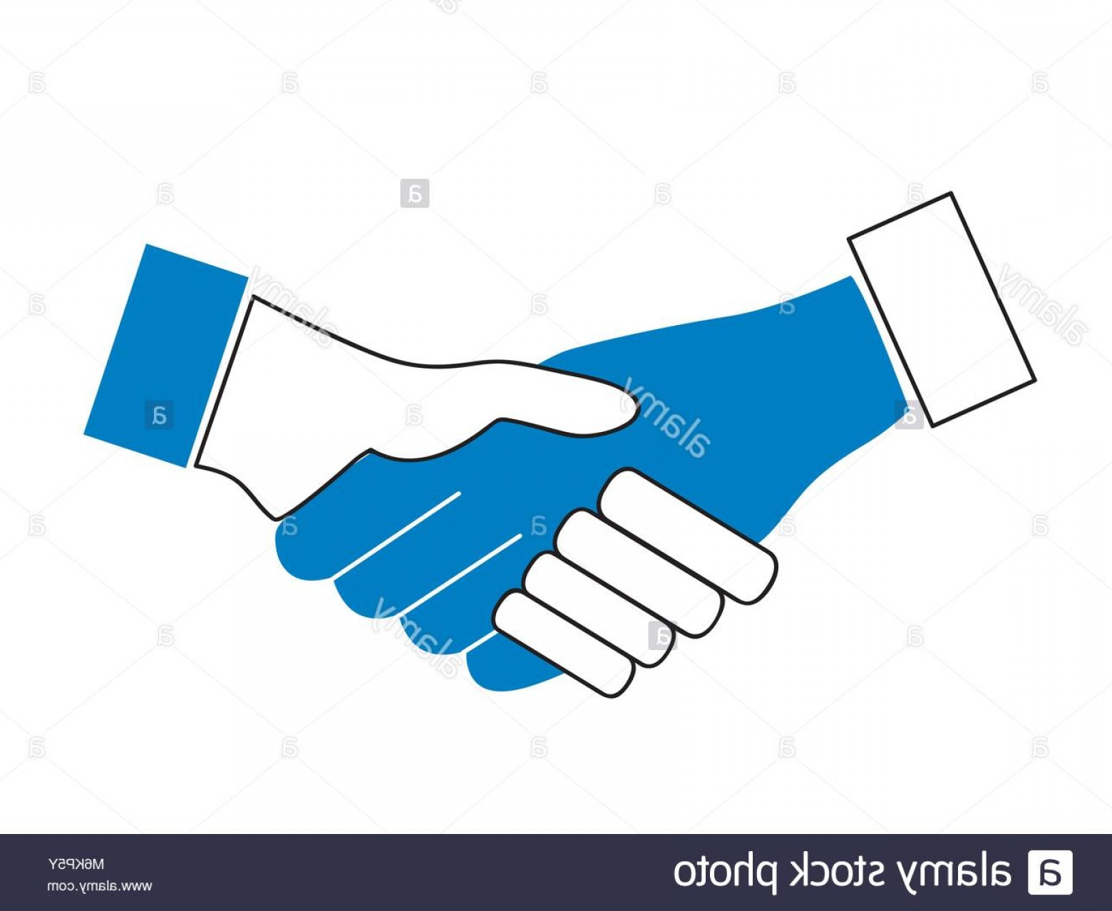 Handshake Vector Art: Stock Photo Handshake Vector Icon Business Concept