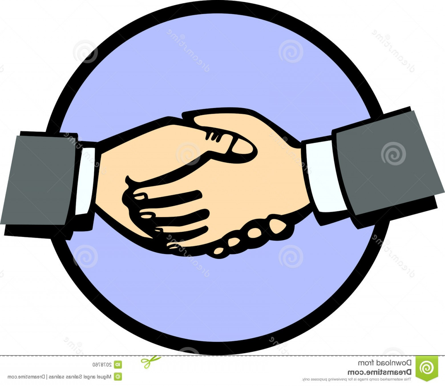 Handshake Vector Art: Stock Photo Handshake Vector Illustration Image