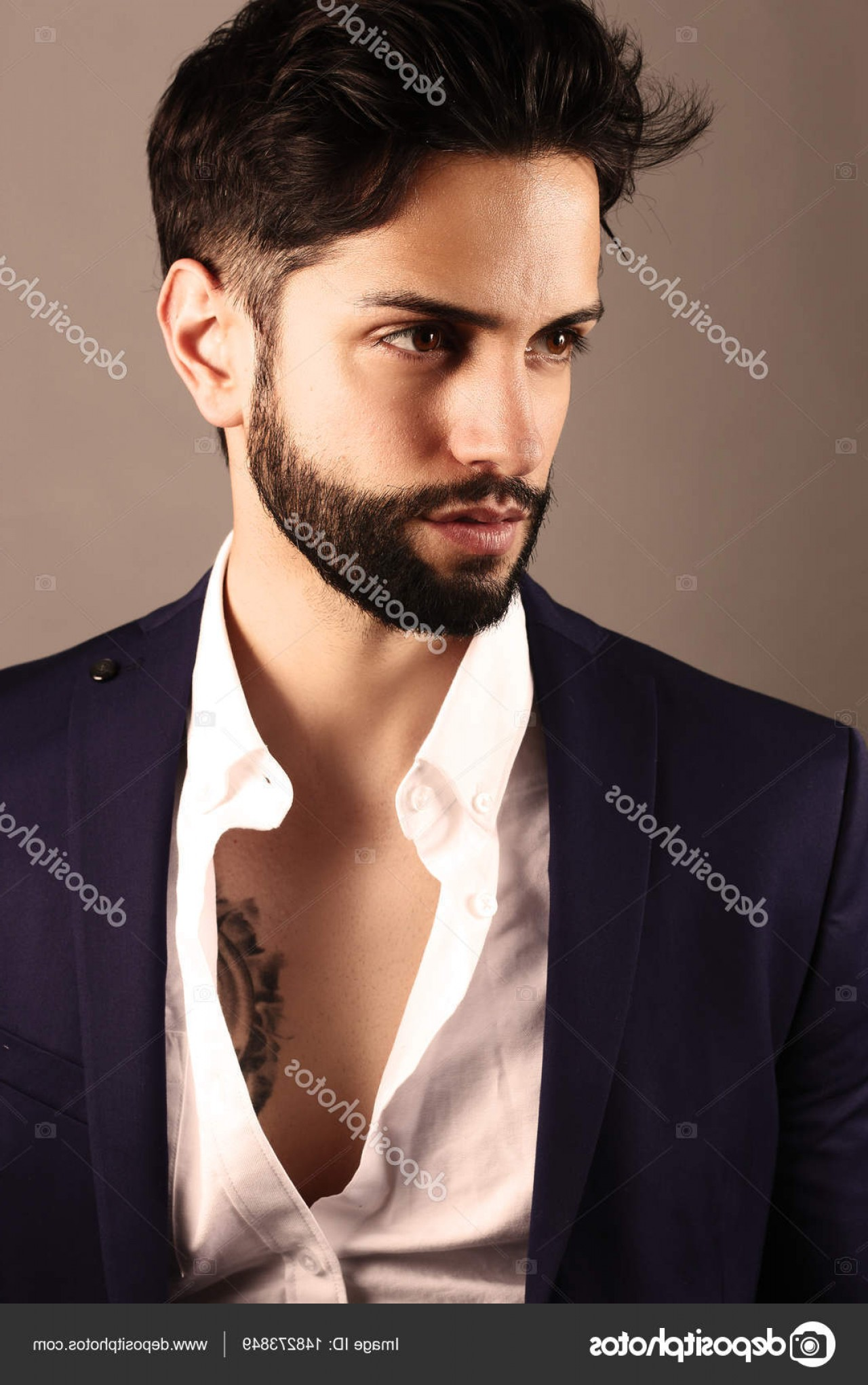 Vector Male Fade Hair: Stock Photo Handsome Man With A Low