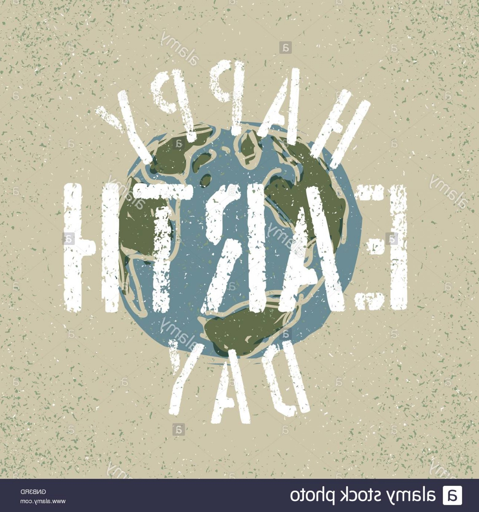 Gru Vector Logos: Stock Photo Happy Earth Day Grunge Lettering With Earth Symbol Stencil Gru