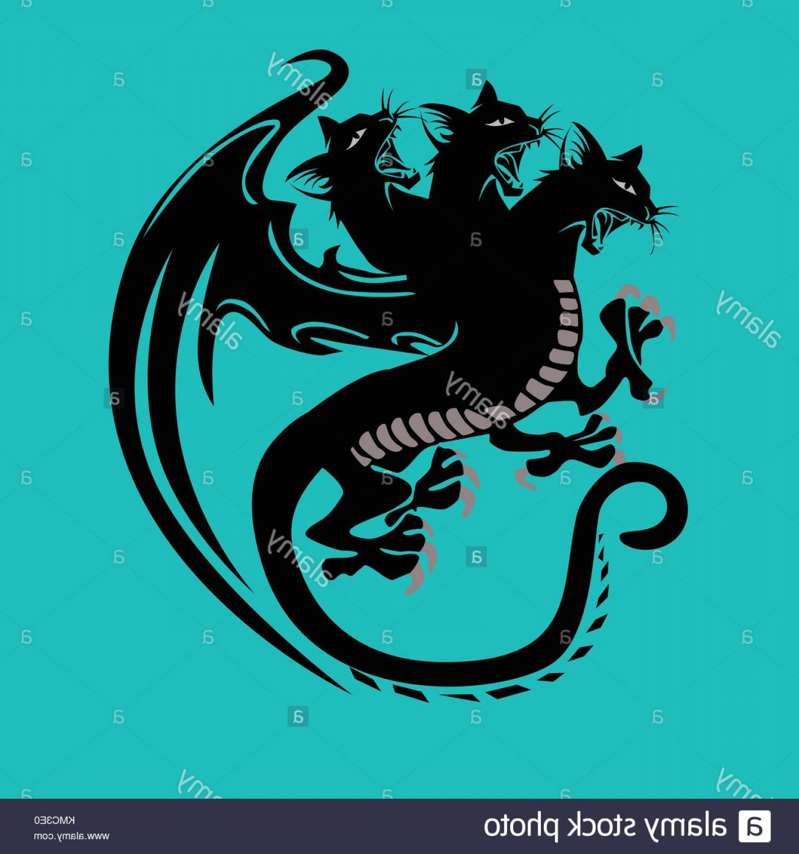 Vector Cats 3: Stock Photo Headed Cats In A Dragon Body