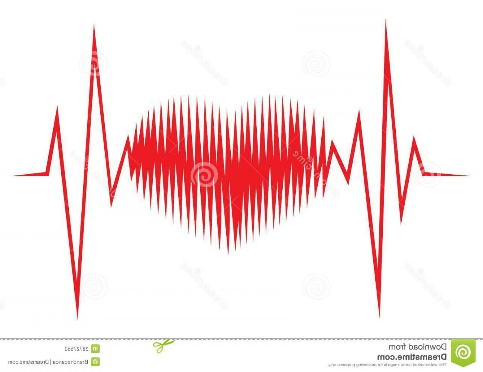 Heart With EKG Line Vector: Stock Photo Heart Shape Ecg Line Vector Illustration Image