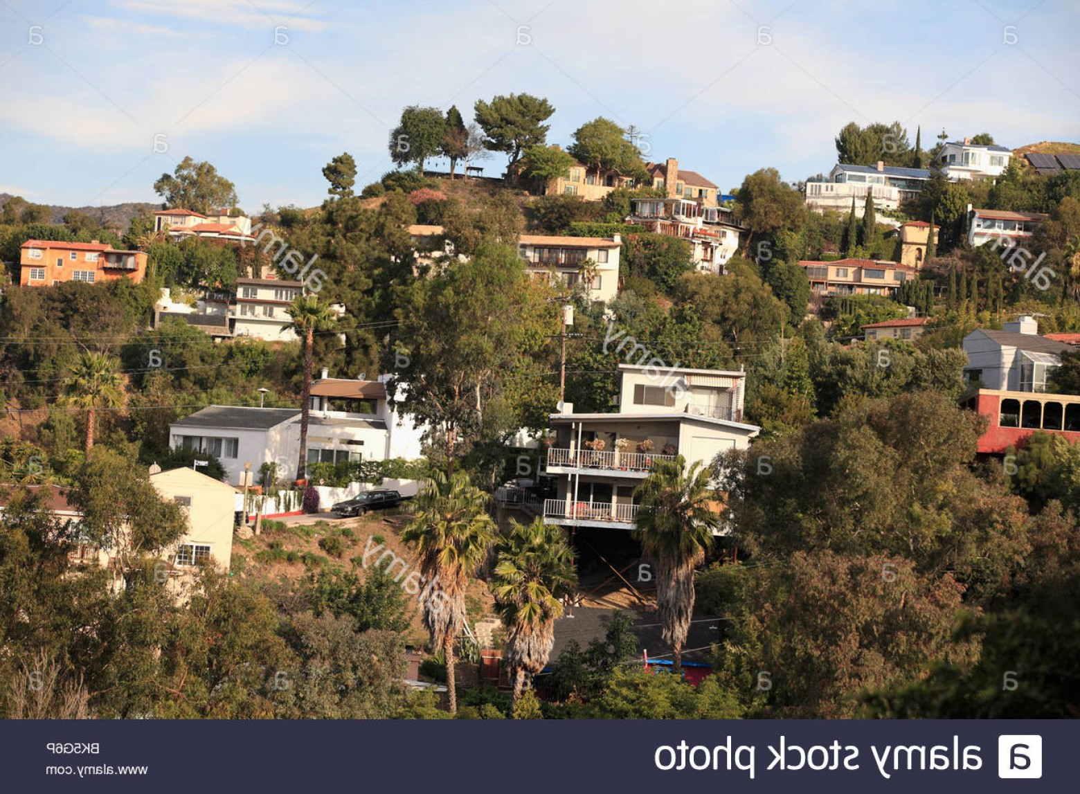 Hollywood Hills Vector: Stock Photo Hollywood Hills Los Angeles California United States Of America North