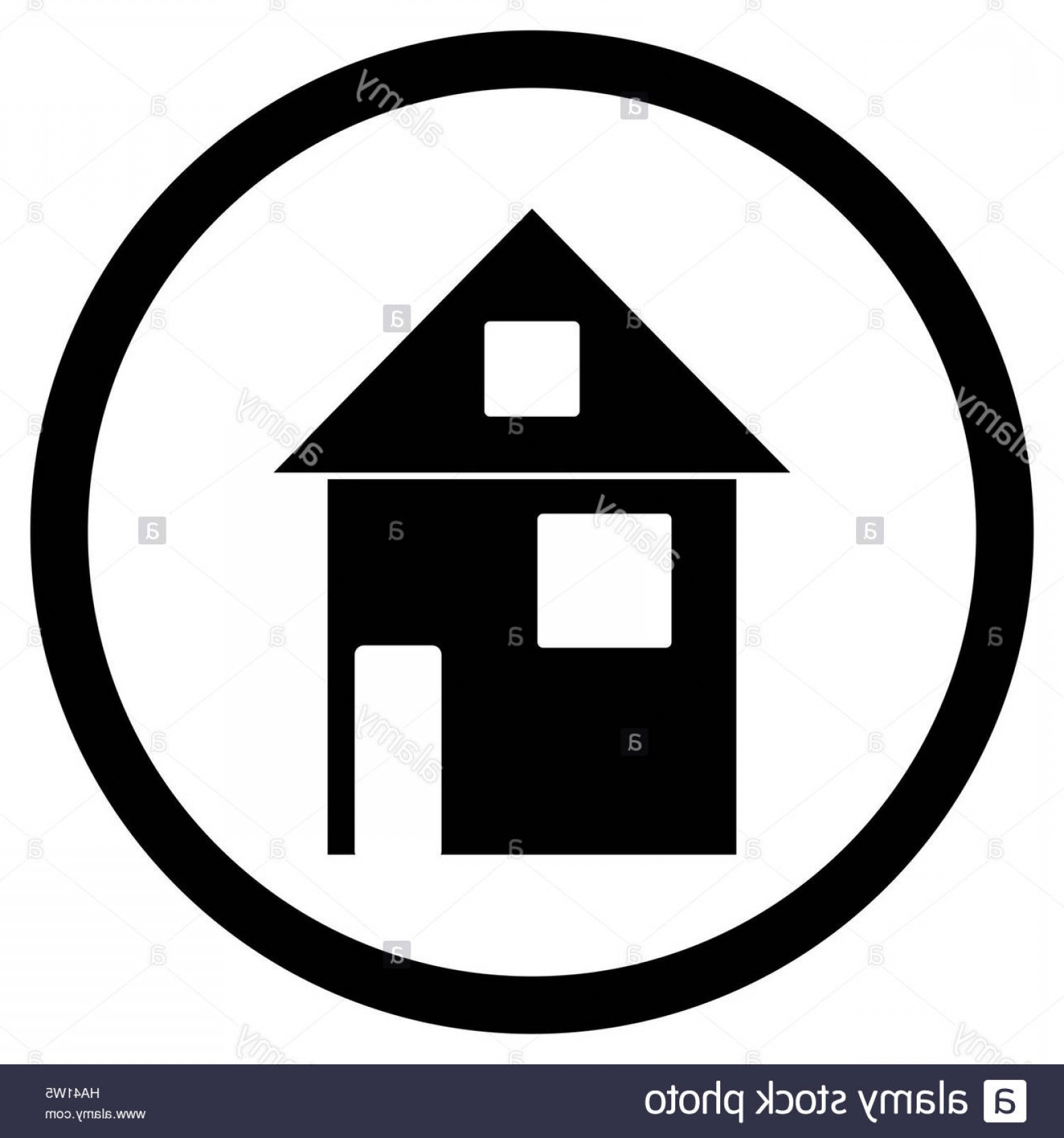 Home Logo Vector: Stock Photo Home House Black White Icon House Icon And Home Logo Vector Illustration