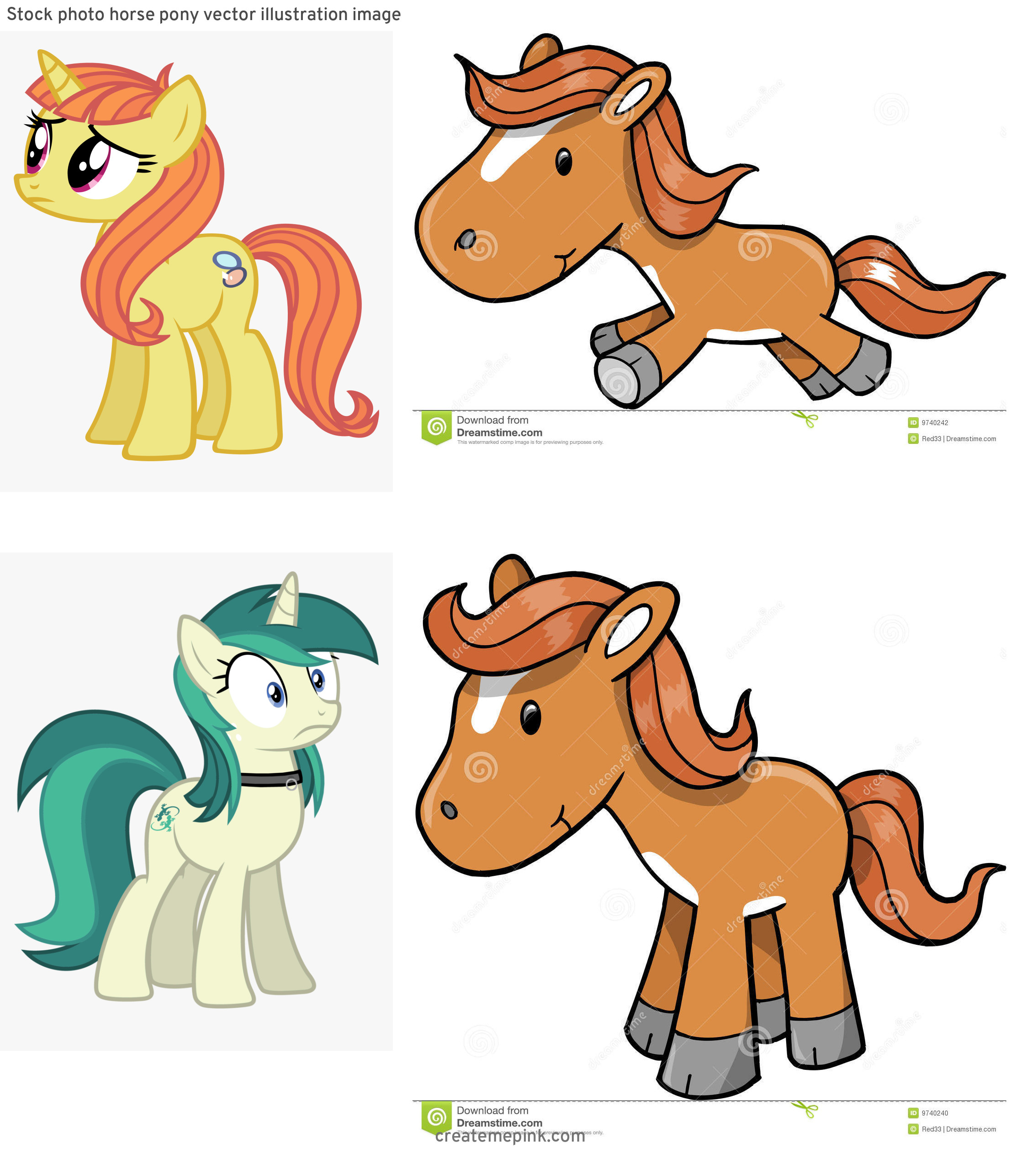 MLP Pony Stallion Vector: Stock Photo Horse Pony Vector Illustration Image