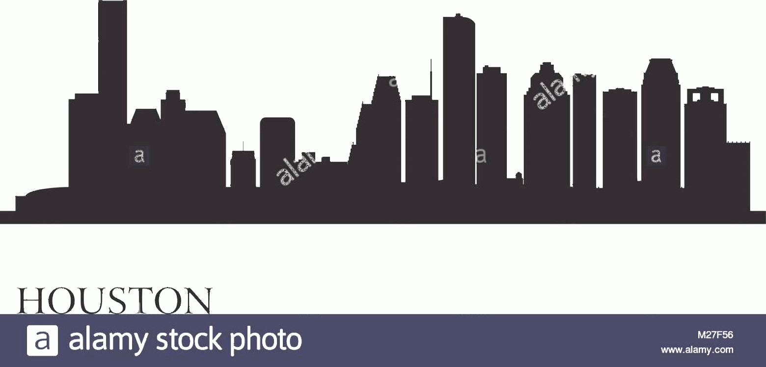 Vector Houston TX: Stock Photo Houston City Skyline Silhouette Background Vector Illustration Eps