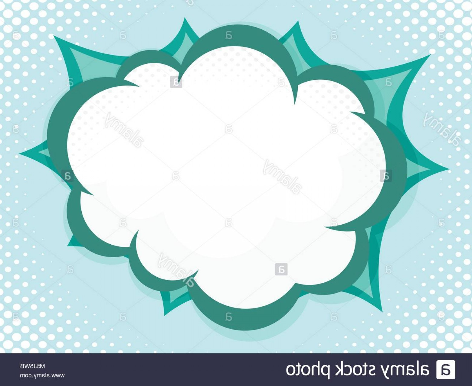 Comic Book Vector Graphics: Stock Photo Illustration Of Blank Speech Bubble Pop Art Comic Book Vector Background