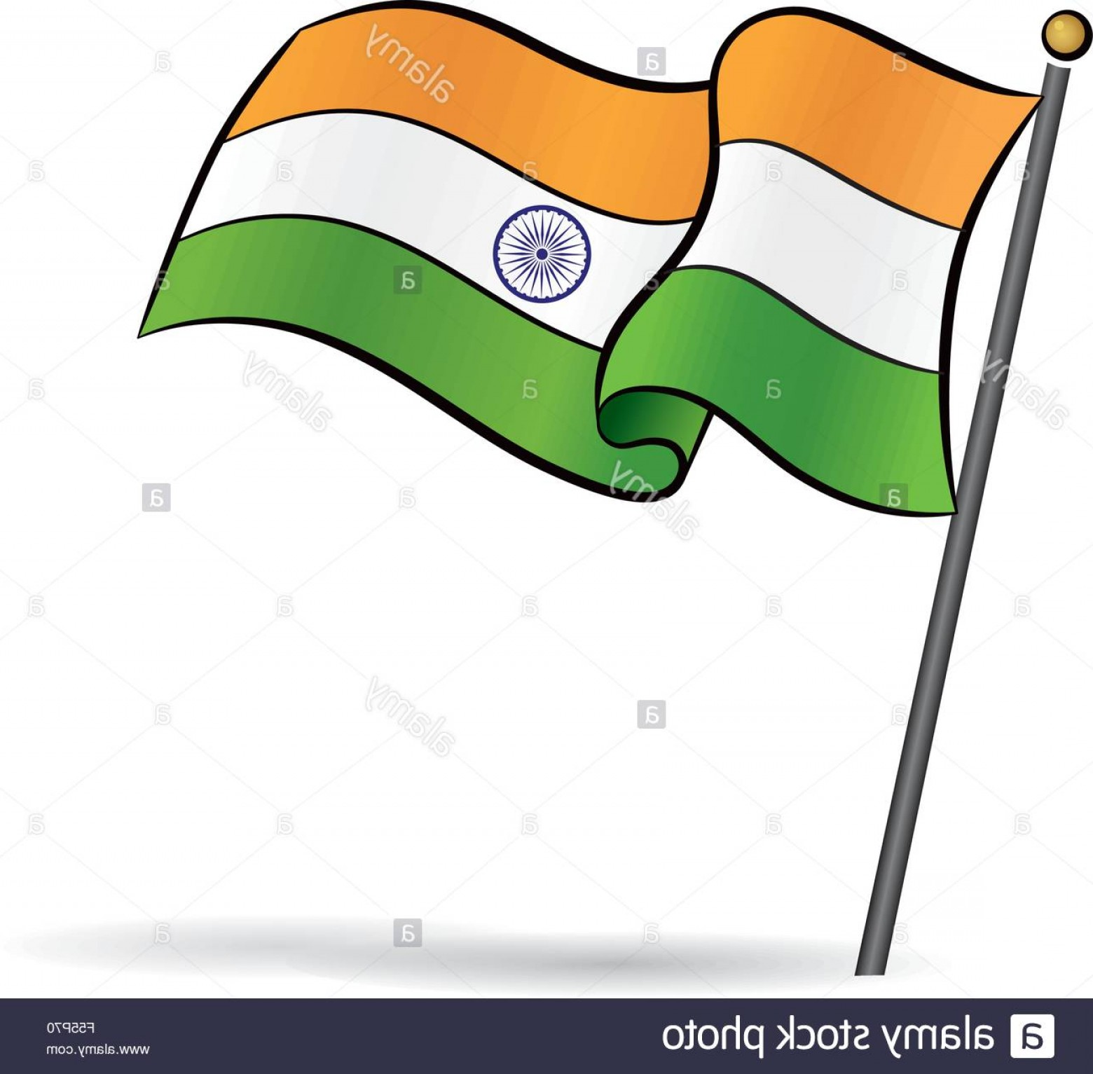 India Flag Vector: Stock Photo Indian Flag Waving On The Wind Vector Illustration
