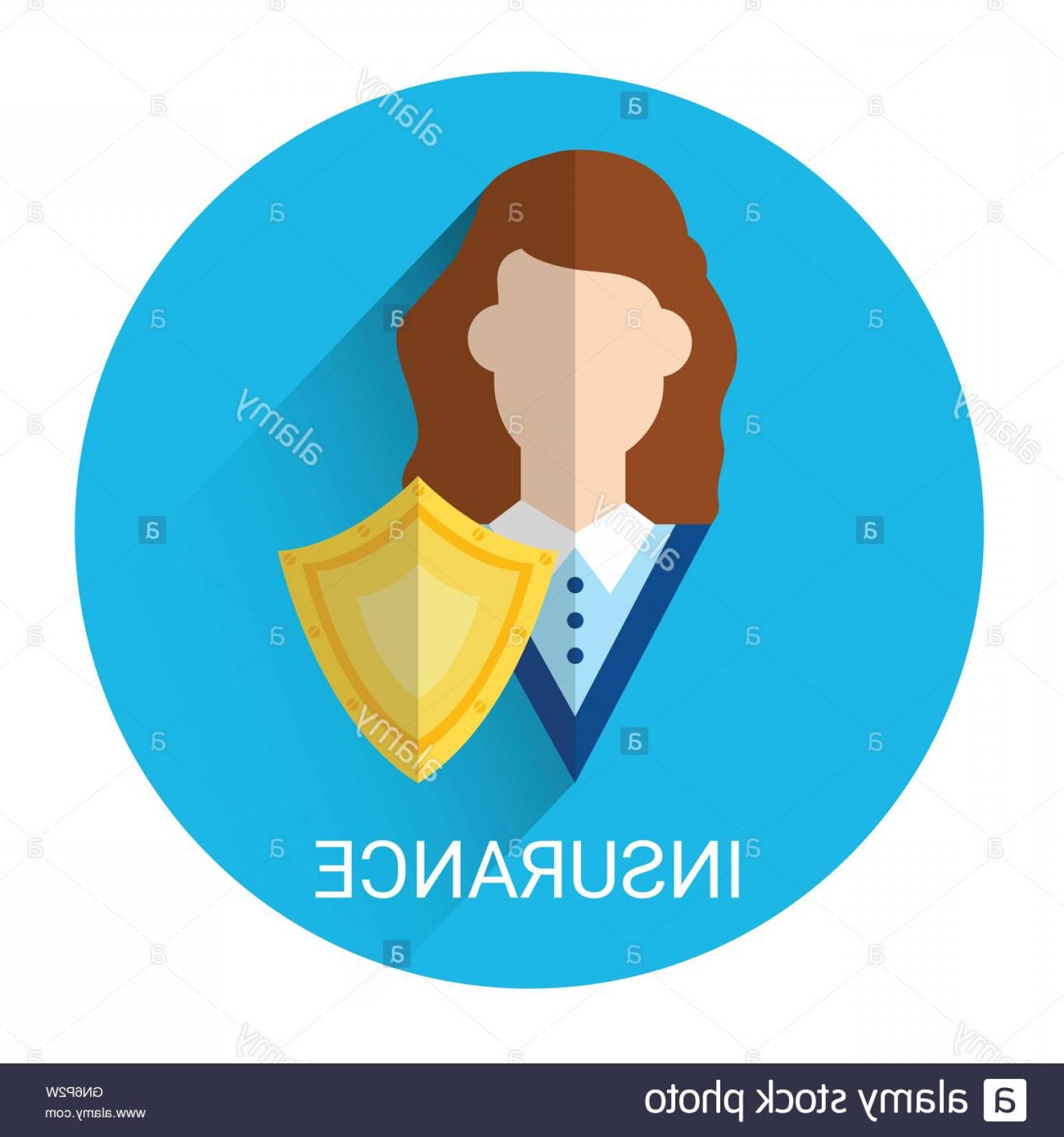 Vector Insurance: Stock Photo Insurance Business Icon