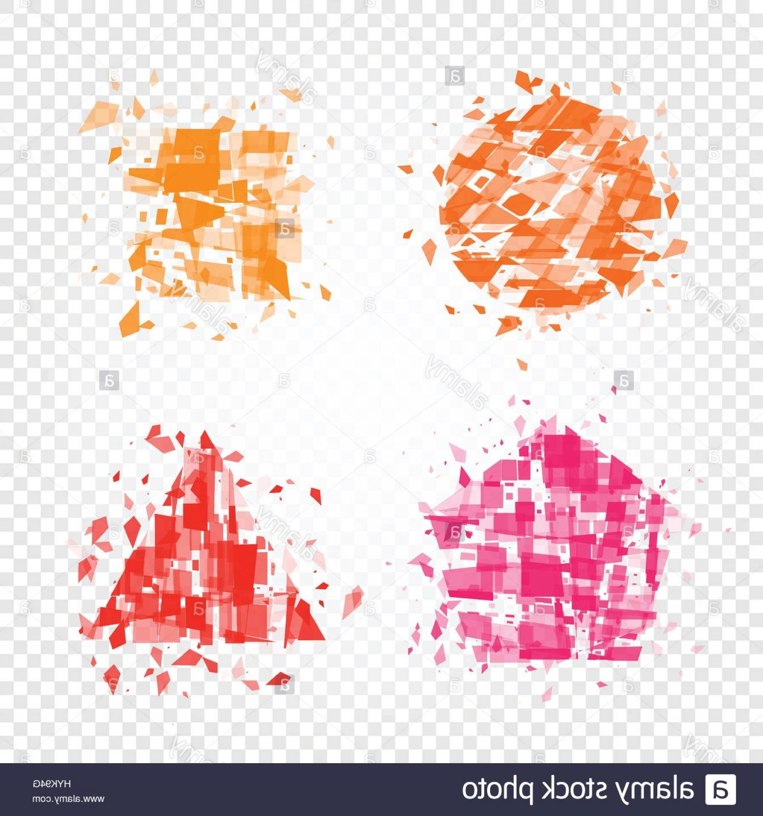 Vector Broken Pieces: Stock Photo Isolated Abstract Colorful Geometric Shapes Of Broken Pieces Logo