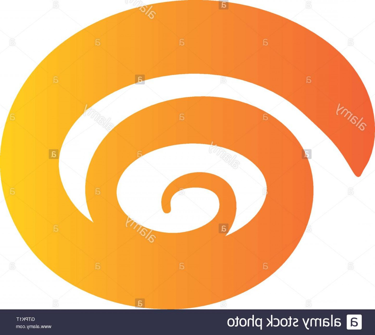 Hurricane Vector Art: Stock Photo Isolated Abstract Spiral Vector Logo Hurricane Tornadoswirl Logotype