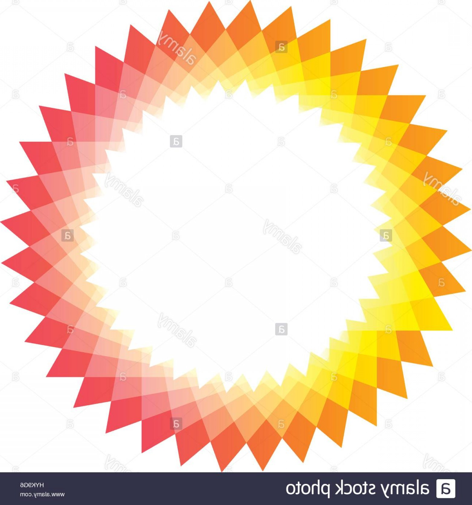 Absract Shape Logo Vector: Stock Photo Isolated Pink And Yellow Color Sun Logotype Abstract Round Shape Logo