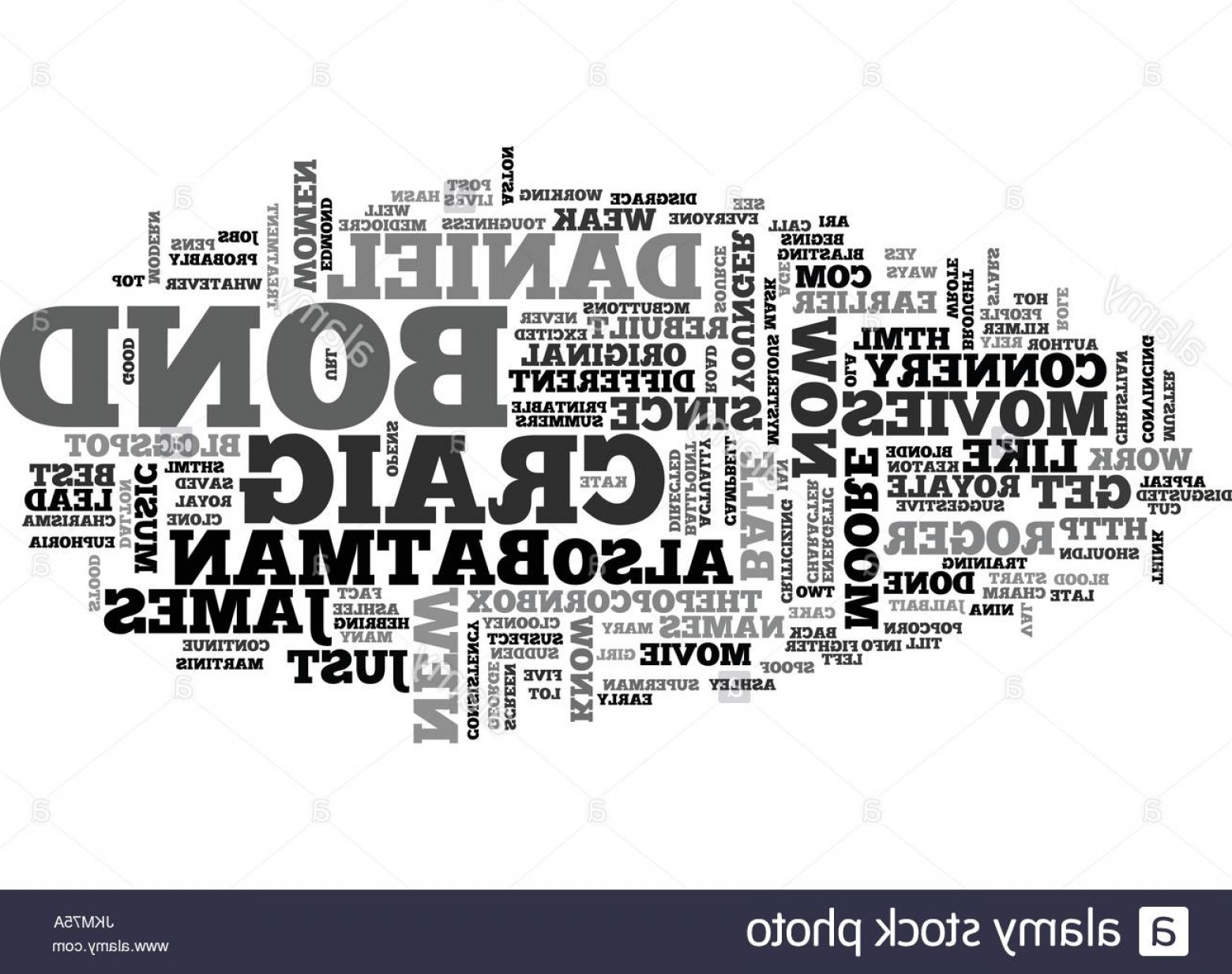 Bond Girls Vector: Stock Photo James Bond Rebuilt Text Background Word Cloud Concept