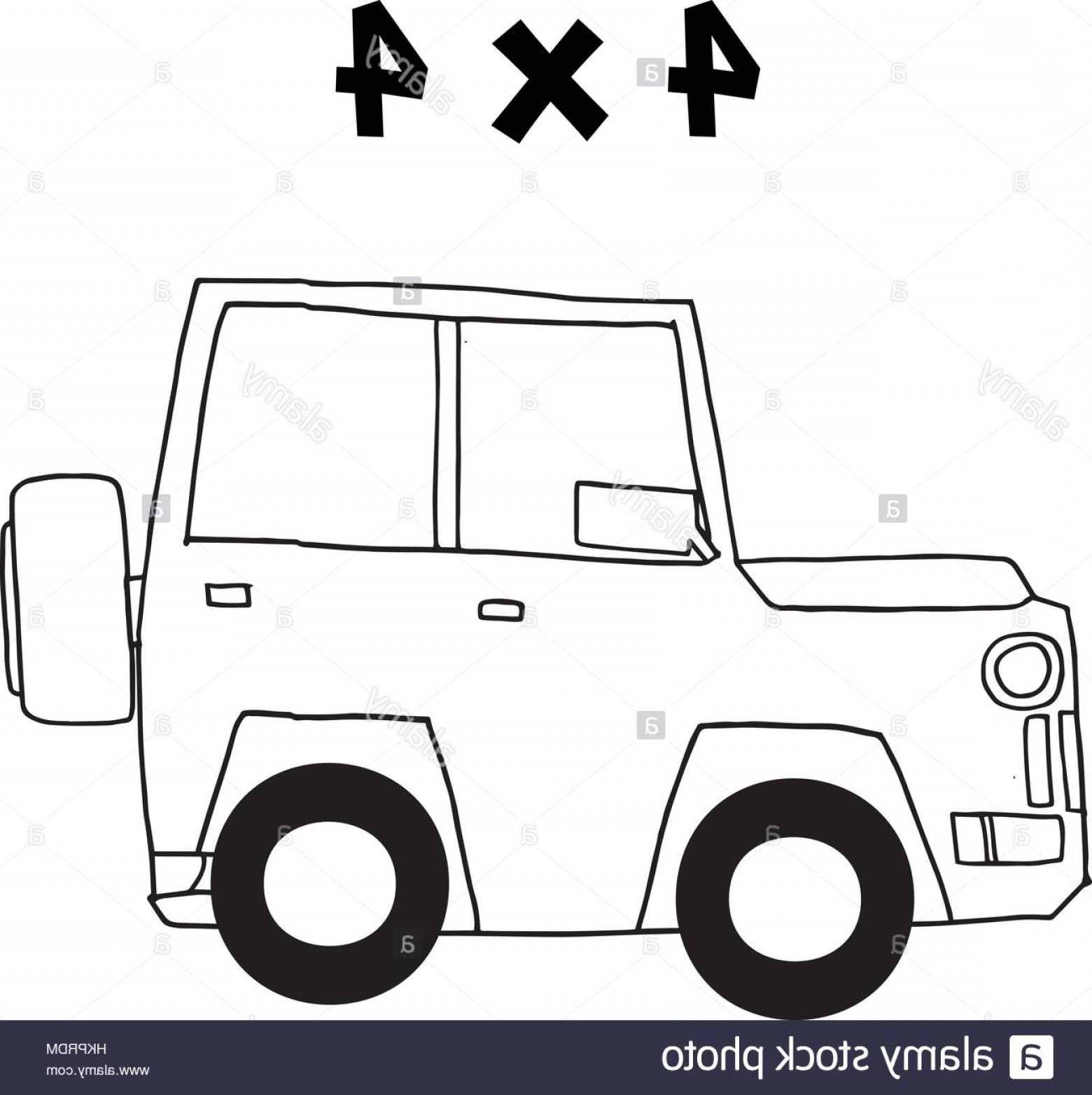 Jeep Tire Vector: Stock Photo Jeep Of Vector Art Illustration