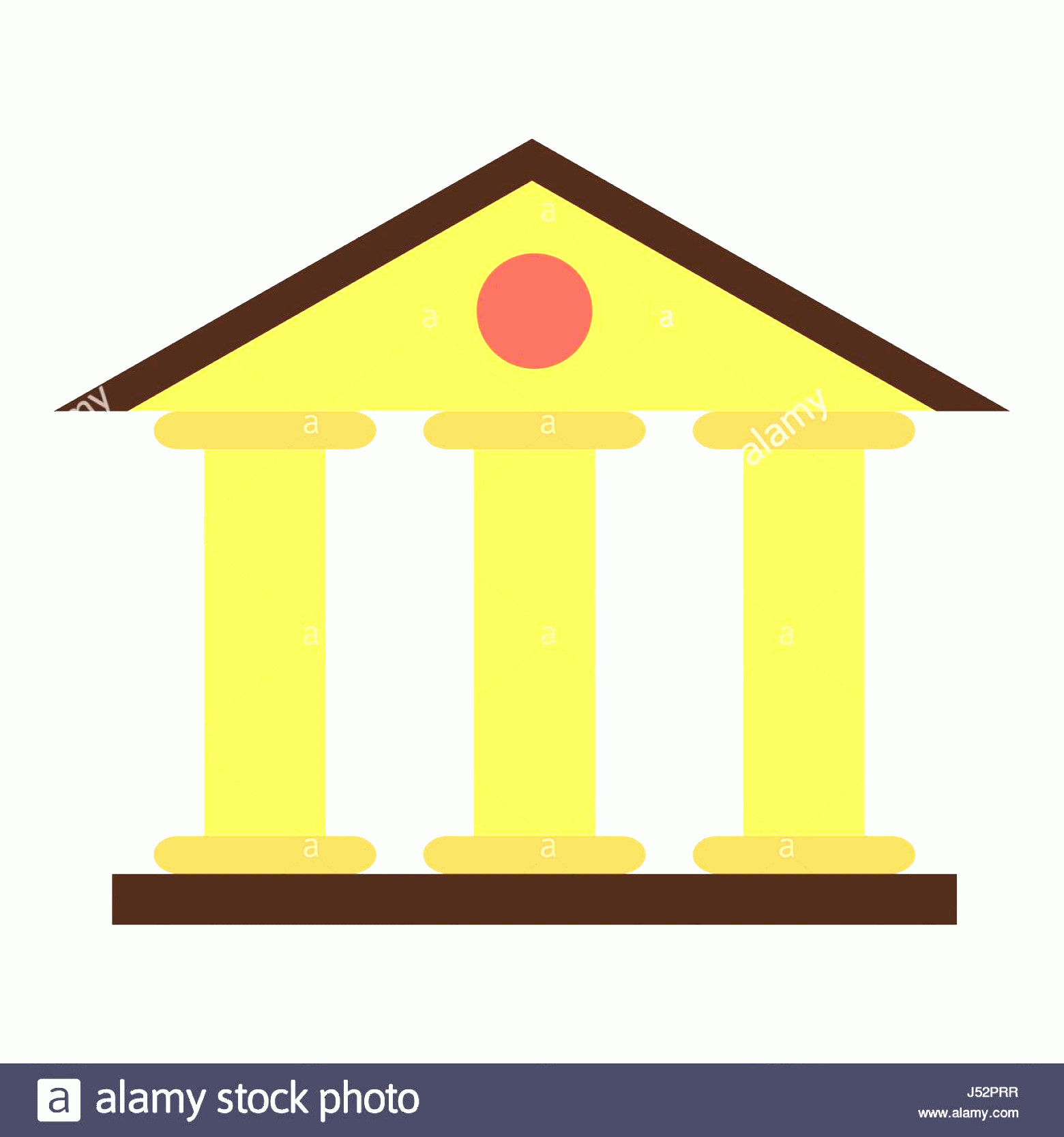 Court Building Vector: Stock Photo Justice Court Building Icon Flat Style