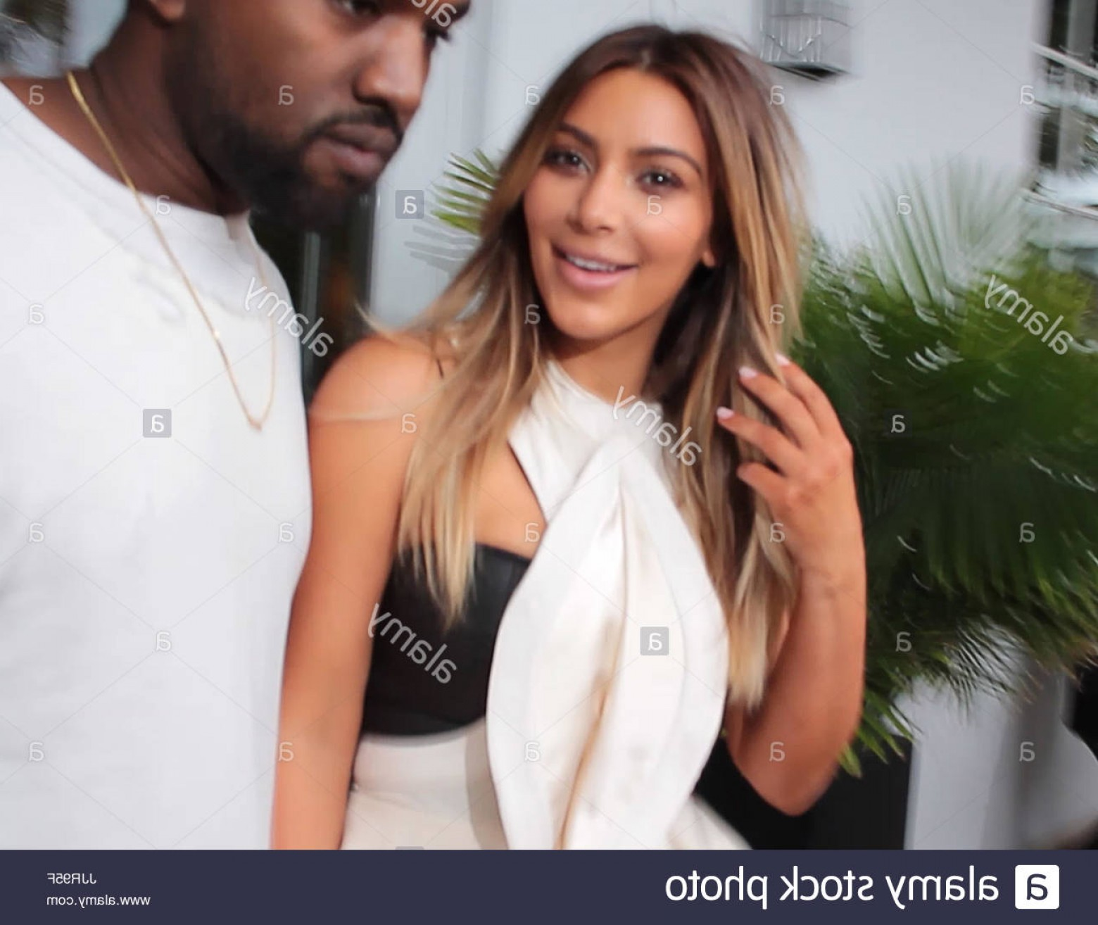 Kanye West Vector Paintig: Stock Photo Kim Kardashian And Kanye West Kim And Kanye Are Smiling With Surprise