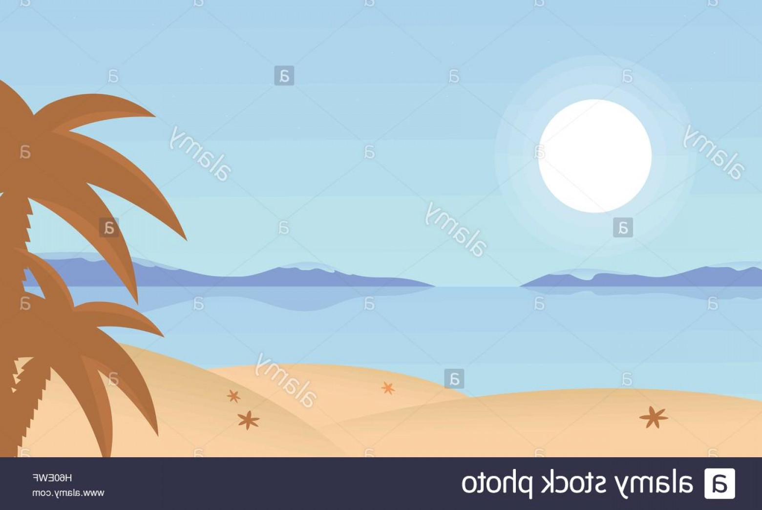 Sand Dune Silhouettes Vectors: Stock Photo Landscape Beach And Palm Of Silhouette