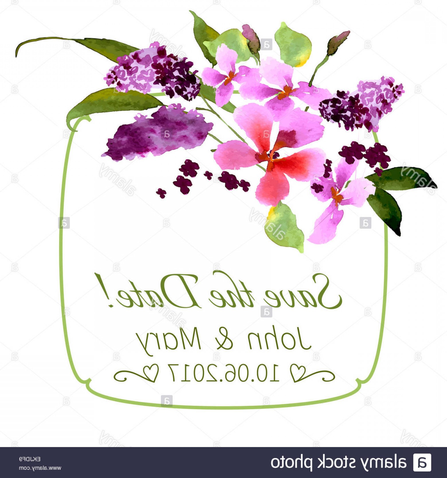 Watercolor Floral Background Vector: Stock Photo Lilac Flowers Watercolor Floral Illustration Floral Bouquet Vector