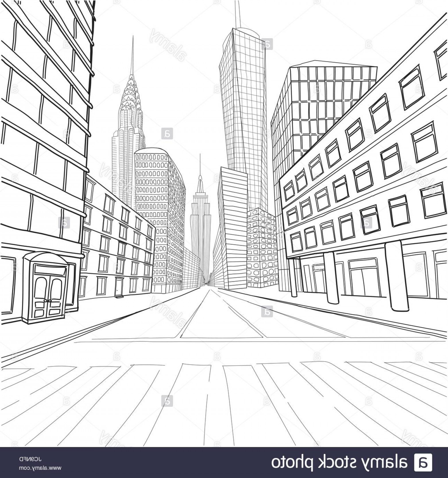 Empire State Vector: Stock Photo London New York Buildings Empire State Chrysler Building World Trade