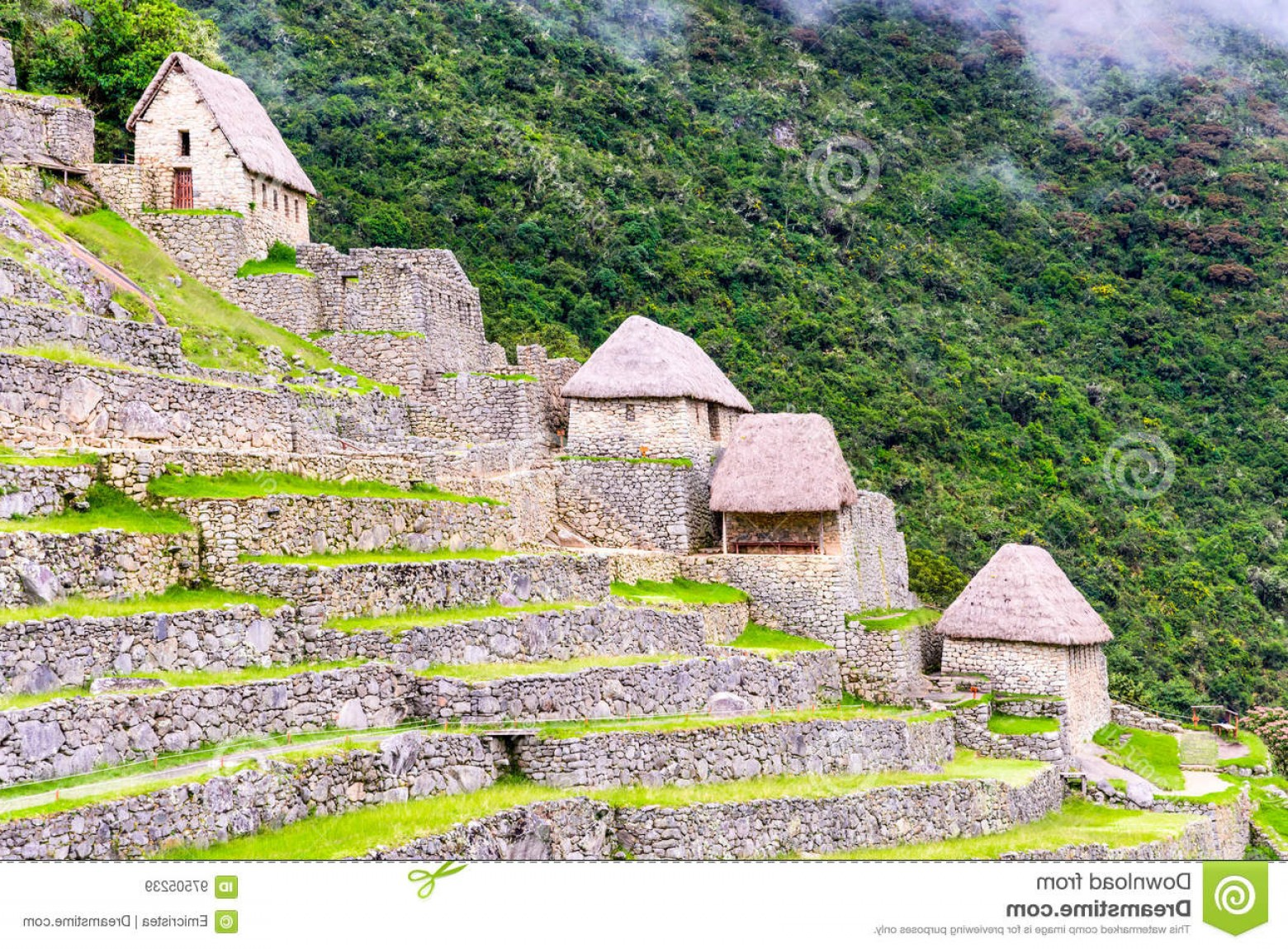Vector South America Ancient Ruins: Stock Photo Machu Picchu Cusco Peru South America Ancient Ruins Houses Inca Empire City Sacred Valley Amazing Place Image