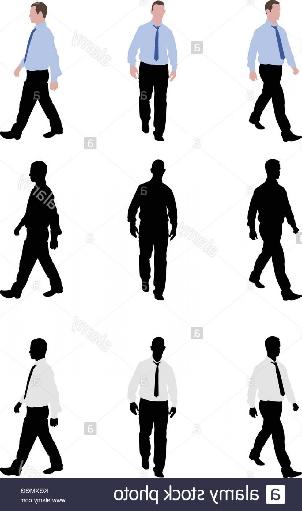 Male Human Vector: Stock Photo Man Walking Silhouettes And Illustration Vector
