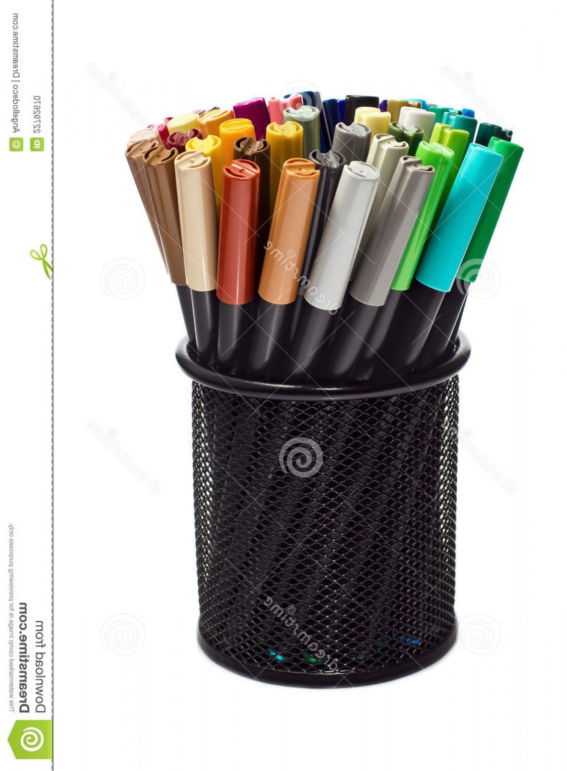 Vector Pencil Holder: Stock Photo Markers Pencil Holder Image
