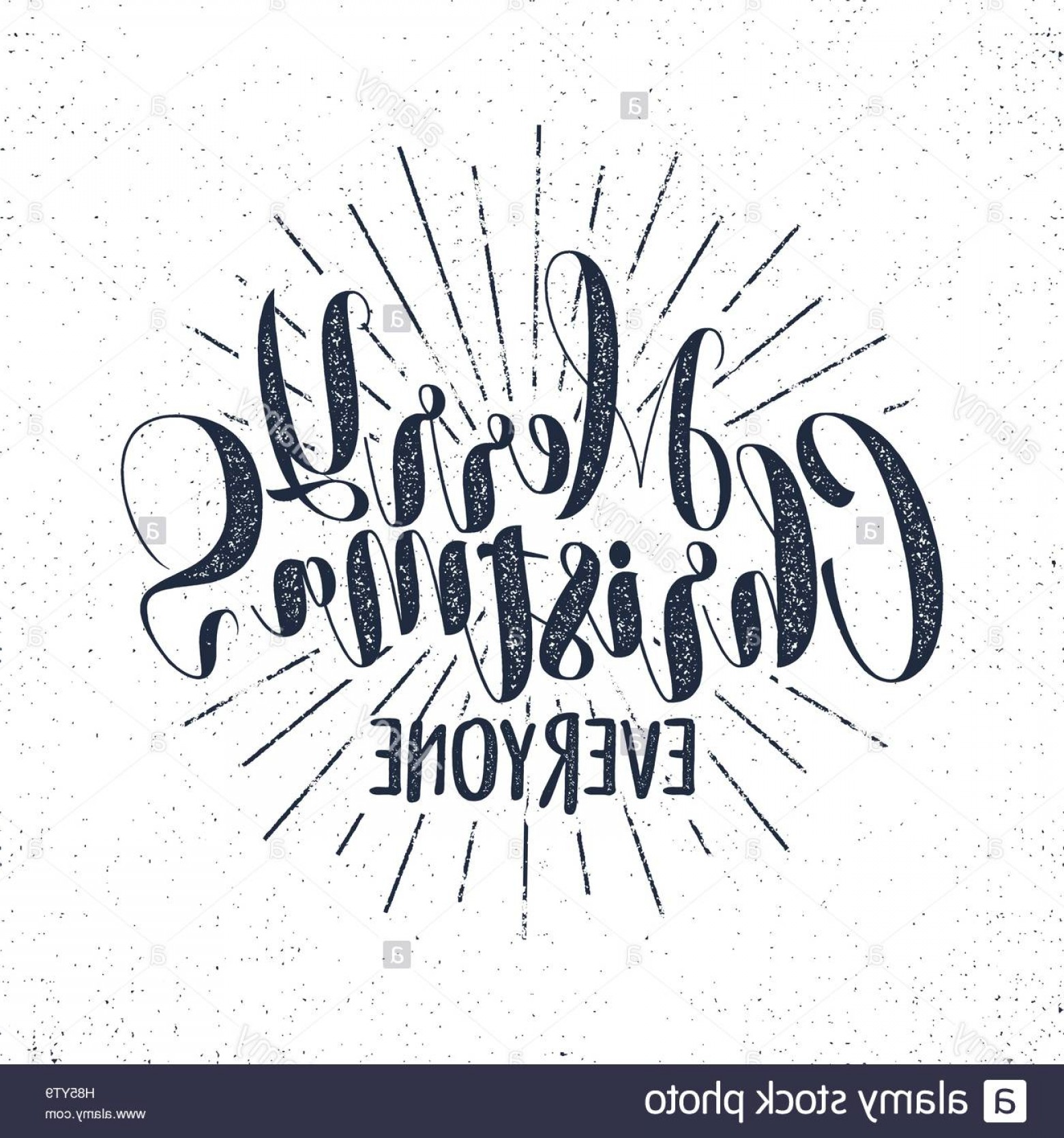 Christmas Vector Sayingd: Stock Photo Merry Christmas Everyone Lettering Holiday Wishe Sayings And Vintage