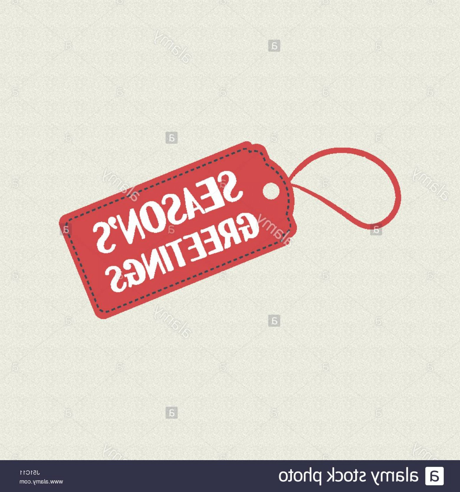 Vintage Xmas Sale Tag Vector: Stock Photo Merry Christmas Season Greetings Quote On Holiday Sale Label Vintage